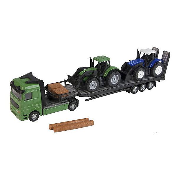 Перевозчик трактора, HTIМашинки<br>Характеристики товара:<br><br>• возраст: от 3 лет;<br>• материал: пластик;<br>• в комплекте: перевозчик, 2 трактора, бревна;<br>• размер упаковки: 29х9х5 см;<br>• вес упаковки: 270 гр.;<br>• страна производитель: Китай.<br><br>Перевозчик трактора HTI — настоящий погрузчик для перевозки машин, строительной техники, тракторов. Машинки заезжают на погрузчик по специальному трапу, который поднимается и опускается. Колеса машины вращаются, что позволяет ей ездить по поверхности. Игрушки изготовлены из качественного безопасного пластика.<br><br>Перевозчик трактора HTI можно приобрести в нашем интернет-магазине.<br><br>Ширина мм: 290<br>Глубина мм: 50<br>Высота мм: 90<br>Вес г: 270<br>Возраст от месяцев: 36<br>Возраст до месяцев: 144<br>Пол: Мужской<br>Возраст: Детский<br>SKU: 6908016