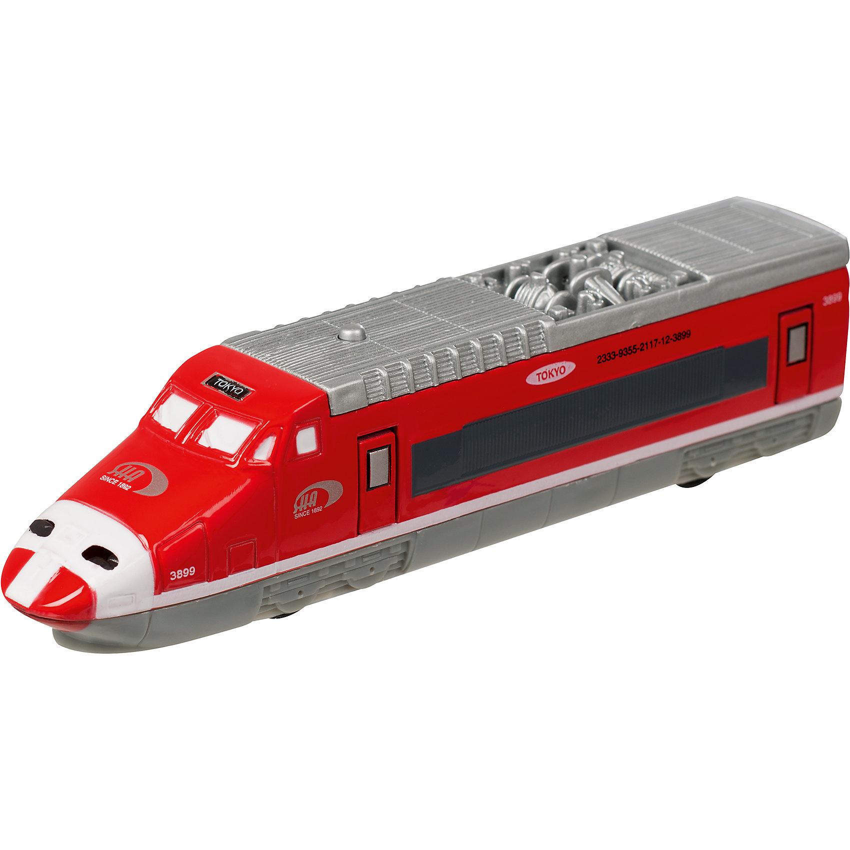 Скоростной поезд  Roadsterz Токийский экспресс, HTIИгрушечная железная дорога<br><br><br>Ширина мм: 50<br>Глубина мм: 210<br>Высота мм: 90<br>Вес г: 210<br>Возраст от месяцев: 36<br>Возраст до месяцев: 144<br>Пол: Мужской<br>Возраст: Детский<br>SKU: 6908022