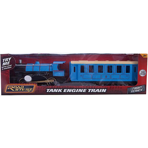 Паровозик Roadsterz голубой с вагоном, HTI