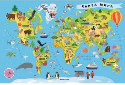 Пазлы Карта мира, 100 деталей, Trefl фото-1