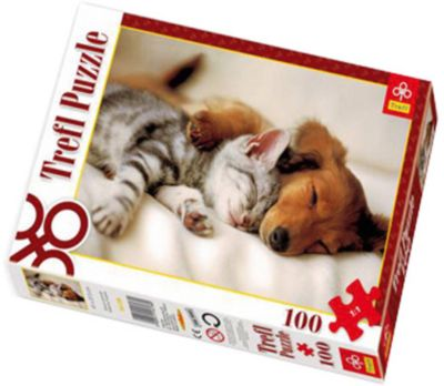 Пазл Спящие друзья , 100 деталей, Trefl