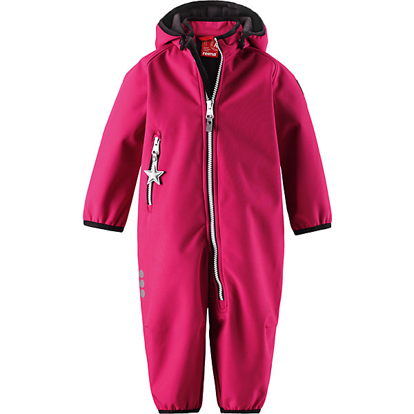 Комбинезон Reima AvuliasВерхняя одежда<br>Характеристики товара:<br><br>• цвет: розовый<br>• состав: 95% полиэстер, 5% эластан<br>• сезон: демисезон<br>• температурный режим: от 0 до +10С<br>• без утеплителя, флисовая подкладка<br>• водонепроницаемость: 10000 мм<br>• воздухопроницаемость: 4000 мм<br>• полиуретановое покрытие <br>• материал softshell<br>• застежка: молния<br>• безопасный съемный капюшон на кнопках<br>• вместительный карман на молнии<br>• защита подбородка от молнии<br>• эластичная резинка на кромке капюшона, манжетах и штанинах<br>• вместительный карман на молнии<br>• светоотражающие детали<br>• страна бренда: Финляндия<br>• страна изготовитель: Китай<br><br>Демисезонный ветронепроницаемый и дышащий комбинезон из материала softshell для малышей от известного бренда Reima (Рейма). Водоотталкивающий, ветронепроницаемый и дышащий материал softshell гарантирует комфорт в изменчивую весеннюю и осеннюю погоду. <br><br>Безопасный отстегивающийся капюшон защищает от пронизывающего ветра, к тому же он безопасен во время подвижных игр.  Комбинезон на флисовой подкладке застёгивается на удобную молнию с защитой от защемления подбордка. Демисезонный комбинезон для девочки выполнен в ярком розовом цвете.<br><br>Комбинезон Avulias от финского бренда Reima (Рейма) можно купить в нашем интернет-магазине.<br><br>Ширина мм: 190<br>Глубина мм: 74<br>Высота мм: 229<br>Вес г: 236<br>Цвет: розовый<br>Возраст от месяцев: 24<br>Возраст до месяцев: 36<br>Пол: Женский<br>Возраст: Детский<br>Размер: 98,74,92,86,80<br>SKU: 6908050