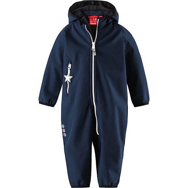 Комбинезон Reima Avulias для мальчикаВерхняя одежда<br>Характеристики товара:<br><br>• цвет: темно-синий<br>• состав: 95% полиэстер, 5% эластан<br>• сезон: демисезон<br>• температурный режим: от 0 до +10С<br>• без утеплителя, флисовая подкладка<br>• водонепроницаемость: 10000 мм<br>• воздухопроницаемость: 4000 мм<br>• полиуретановое покрытие <br>• материал softshell<br>• застежка: молния<br>• безопасный съемный капюшон на кнопках<br>• вместительный карман на молнии<br>• защита подбородка от молнии<br>• эластичная резинка на кромке капюшона, манжетах и штанинах<br>• вместительный карман на молнии<br>• светоотражающие детали<br>• страна бренда: Финляндия<br>• страна изготовитель: Китай<br><br>Демисезонный ветронепроницаемый и дышащий комбинезон из материала softshell для малышей от известного бренда Reima (Рейма). Водоотталкивающий, ветронепроницаемый и дышащий материал softshell гарантирует комфорт в изменчивую весеннюю и осеннюю погоду. <br><br>Безопасный отстегивающийся капюшон защищает от пронизывающего ветра, к тому же он безопасен во время подвижных игр.  Комбинезон на флисовой подкладке застёгивается на удобную молнию с защитой от защемления подбордка. Демисезонный комбинезон для мальчика выполнен в темно-синем цвете.<br><br>Комбинезон Avulias от финского бренда Reima (Рейма) можно купить в нашем интернет-магазине.<br><br>Ширина мм: 190<br>Глубина мм: 74<br>Высота мм: 229<br>Вес г: 236<br>Цвет: синий<br>Возраст от месяцев: 24<br>Возраст до месяцев: 36<br>Пол: Мужской<br>Возраст: Детский<br>Размер: 98,74,92,86,80<br>SKU: 6908056