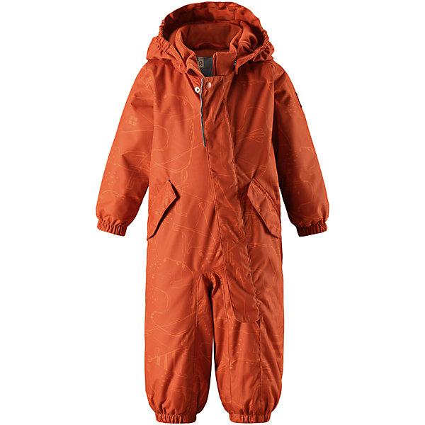 Комбинезон Reima Reimatec® Bunny для мальчикаОдежда<br>Характеристики товара:<br><br>• цвет: оранжевый<br>• состав: 100% полиэстер<br>• утеплитель: 160 г/м2 (soft loft insulation)<br>• сезон: зима<br>• температурный режим: от 0 до -20С<br>• водонепроницаемость: 8000 мм<br>• воздухопроницаемость: 10000 мм<br>• износостойкость: 30000 циклов (тест Мартиндейла)<br>• особенности модели: с рисунком<br>• основные швы проклеены и не пропускают влагу<br>• водо- и ветронепроницаемый, дышащий и грязеотталкивающий материал<br>• утепленная задняя часть изделия<br>• гладкая подкладка из полиэстера<br>• безопасный, съемный капюшон<br>• защита подбородка от защемления<br>• эластичные манжеты и штанины<br>• внутренняя регулировка обхвата талии<br>• съемные эластичные штрипки <br>• длинная молния для легкого надевания<br>• два кармана на кнопках<br>• светоотражающие детали<br>• страна бренда: Финляндия<br>• страна изготовитель: Китай<br><br>Зимний комбинезон на молнии для малышей! Основные швы комбинезона проклеены, а сам он изготовлен из водо и ветронепроницаемого, грязеотталкивающего материала. Утепленная задняя часть обеспечит дополнительное утепление во время игр в снегу.<br><br>Гладкая подкладка и длинная молния облегчают надевание, а талия в комбинезоне регулируется. Два кармана с клапанами надежно сохранят все сокровища. Зимний комбинезон с капюшоном для мальчика декорирован рисунком со слонами.<br><br>Комбинезон Bunny для мальчика Reimatec® Reima от финского бренда Reima (Рейма) можно купить в нашем интернет-магазине.<br><br>Ширина мм: 356<br>Глубина мм: 10<br>Высота мм: 245<br>Вес г: 519<br>Цвет: оранжевый<br>Возраст от месяцев: 6<br>Возраст до месяцев: 9<br>Пол: Мужской<br>Возраст: Детский<br>Размер: 74,98,92,86,80<br>SKU: 6908092