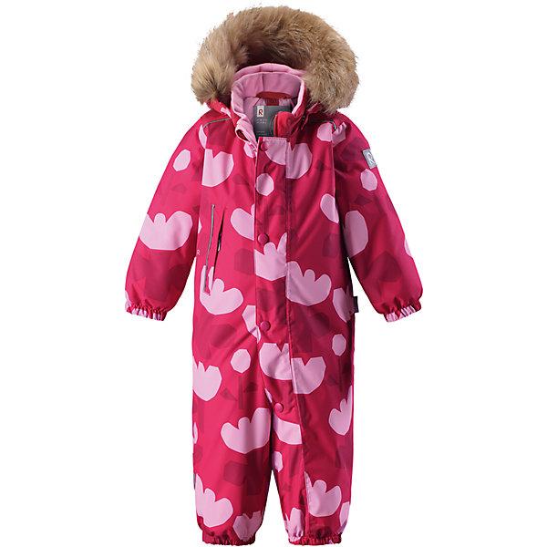 Комбинезон Reima Reimatec® Nuoska для девочкиОдежда<br>Характеристики товара:<br><br>• цвет: розовый<br>• состав: 100% полиэстер<br>• утеплитель: 160 г/м2 (soft loft insulation)<br>• сезон: зима<br>• температурный режим: от 0 до -20С<br>• водонепроницаемость: 15000 мм<br>• воздухопроницаемость: 7000 мм<br>• износостойкость: 40000 циклов (тест Мартиндейла)<br>• особенности модели: с рисунком,  с мехом<br>• основные швы проклеены и не пропускают влагу<br>• водо- и ветронепроницаемый, дышащий и грязеотталкивающий материал<br>• утепленная задняя часть изделия<br>• гладкая подкладка из полиэстера<br>• безопасный, съемный, регулируемый капюшон<br>• съемный искусственный мех на капюшоне<br>• защита подбородка от защемления<br>• эластичные манжеты и штанины<br>• эластичная талия<br>• съемные эластичные штрипки <br>• длинная молния для легкого надевания<br>• дополнительная планка с кнопками<br>• карман на молнии<br>• светоотражающие детали<br>• страна бренда: Финляндия<br>• страна изготовитель: Китай<br><br>Зимний комбинезон на молнии для девочки! Основные швы комбинезона проклеены, а сам он изготовлен из водо и ветронепроницаемого, грязеотталкивающего материала. Утепленная задняя часть обеспечит дополнительное утепление во время игр в снегу.<br><br>Гладкая подкладка и длинная молния облегчают надевание, а талия в комбинезоне регулируется. Маленький карман на молнии надежно сохранит все сокровища. Обратите внимание: комбинезон можно сушить в сушильной машине. Зимний комбинезон с капюшоном для девочки декорирован рисунком с цветами.<br><br>Комбинезон Nuoska для девочки Reimatec® Reima от финского бренда Reima (Рейма) можно купить в нашем интернет-магазине.<br><br>Ширина мм: 356<br>Глубина мм: 10<br>Высота мм: 245<br>Вес г: 519<br>Цвет: розовый<br>Возраст от месяцев: 6<br>Возраст до месяцев: 9<br>Пол: Женский<br>Возраст: Детский<br>Размер: 74,98,92,86,80<br>SKU: 6908098