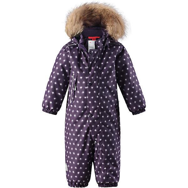 Комбинезон Reima Reimatec® Nuoska для девочкиВерхняя одежда<br>Хактеристики товара:<br><br>• цвет: фиолетовый<br>• состав: 100% полиэстер<br>• утеплитель: 160 г/м2 (soft loft insulation)<br>• сезон: зима<br>• температурный режим: от 0 до -20С<br>• водонепроницаемость: 15000 мм<br>• воздухопроницаемость: 7000 мм<br>• износостойкость: 40000 циклов (тест Мартиндейла)<br>• особенности модели: с рисунком, с мехом<br>• основные швы проклеены и не пропускают влагу<br>• водо- и ветронепроницаемый, дышащий и грязеотталкивающий материал<br>• утепленная задняя часть изделия<br>• гладкая подкладка из полиэстера<br>• безопасный, съемный, регулируемый капюшон<br>• съемный искусственный мех на капюшоне<br>• защита подбородка от защемления<br>• эластичные манжеты и штанины<br>• эластичная талия<br>• съемные эластичные штрипки <br>• длинная молния для легкого надевания<br>• дополнительная планка с кнопками<br>• карман на молнии<br>• светоотражающие детали<br>• страна бренда: Финляндия<br>• страна изготовитель: Китай<br><br>Зимний комбинезон на молнии для девочки! Основные швы комбинезона проклеены, а сам он изготовлен из водо и ветронепроницаемого, грязеотталкивающего материала. Утепленная задняя часть обеспечит дополнительное утепление во время игр в снегу.<br><br>Гладкая подкладка и длинная молния облегчают надевание, а талия в комбинезоне регулируется. Маленький карман на молнии надежно сохранит все сокровища. Обратите внимание: комбинезон можно сушить в сушильной машине. Зимний комбинезон с капюшоном для мальчика декорирован мелким рисунком со звездочками.<br><br>Комбинезон Nuoska для девочки Reimatec® Reima от финского бренда Reima (Рейма) можно купить в нашем интернет-магазине.<br>Ширина мм: 356; Глубина мм: 10; Высота мм: 245; Вес г: 519; Цвет: лиловый; Возраст от месяцев: 24; Возраст до месяцев: 36; Пол: Женский; Возраст: Детский; Размер: 98,74,80,86,92; SKU: 6908110;