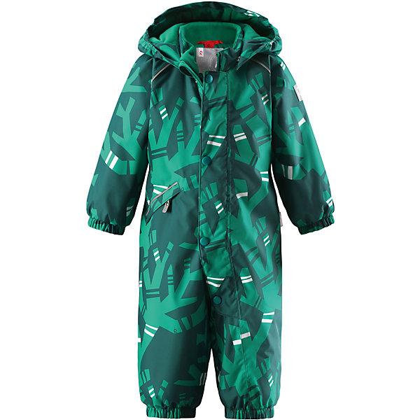Комбинезон Reima Reimatec® Suo для мальчикаВерхняя одежда<br>Характеристики товара:<br><br>• цвет: зеленый<br>• состав: 100% полиэстер<br>• утеплитель: 160 г/м2 (soft loft insulation)<br>• сезон: зима<br>• температурный режим: от 0 до -20С<br>• водонепроницаемость: 15000 мм<br>• воздухопроницаемость: 7000 мм<br>• износостойкость: 35000 циклов (тест Мартиндейла)<br>• особенности модели: с рисунком<br>• основные швы проклеены и не пропускают влагу<br>• водо- и ветронепроницаемый, дышащий и грязеотталкивающий материал<br>• утепленная задняя часть изделия<br>• гладкая подкладка из полиэстера<br>• безопасный, съемный, регулируемый капюшон<br>• защита подбородка от защемления<br>• эластичные манжеты и штанины<br>• эластичная талия<br>• съемные эластичные штрипки <br>• длинная молния для легкого надевания<br>• дополнительная планка с кнопками<br>• карман на молнии<br>• светоотражающие детали<br>• страна бренда: Финляндия<br>• страна изготовитель: Китай<br><br>Зимний комбинезон на молнии для мальчика! Основные швы комбинезона проклеены, а сам он изготовлен из водо и ветронепроницаемого, грязеотталкивающего материала. Утепленная задняя часть обеспечит дополнительное утепление во время игр в снегу.<br><br>Гладкая подкладка и длинная молния облегчают надевание. Маленький карман на молнии надежно сохранит все сокровища. Обратите внимание: комбинезон можно сушить в сушильной машине. Зимний комбинезон с капюшоном для мальчика декорирован абстрактным рисунком.<br><br>Комбинезон Suo для мальчика Reimatec® Reima от финского бренда Reima (Рейма) можно купить в нашем интернет-магазине.<br><br>Ширина мм: 356<br>Глубина мм: 10<br>Высота мм: 245<br>Вес г: 519<br>Цвет: зеленый<br>Возраст от месяцев: 6<br>Возраст до месяцев: 9<br>Пол: Мужской<br>Возраст: Детский<br>Размер: 74,98,92,86,80<br>SKU: 6908122