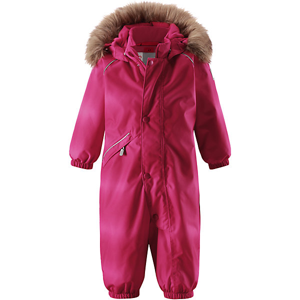 Комбинезон Reima Reimatec® Lappi для девочкиВерхняя одежда<br>Характеристики товара:<br><br>• цвет: розовый<br>• состав: 100% полиэстер<br>• утеплитель: 100% полиэстер, 160 г/м2 (soft loft insulation)<br>• сезон: зима<br>• температурный режим: от 0 до -20С<br>• водонепроницаемость: 15000 мм<br>• воздухопроницаемость: 7000 мм<br>• износостойкость: 40000 циклов (тест Мартиндейла)<br>• особенности модели: однотонный, с мехом<br>• основные швы проклеены и не пропускают влагу<br>• водо- и ветронепроницаемый, дышащий и грязеотталкивающий материал<br>• утепленная задняя часть изделия<br>• гладкая подкладка из полиэстера<br>• безопасный, съемный, регулируемый капюшон<br>• съемный искусственный мех на капюшоне<br>• защита подбородка от защемления<br>• эластичные манжеты и штанины<br>• эластичная талия<br>• съемные эластичные штрипки <br>• длинная молния для легкого надевания<br>• дополнительная планка с кнопками<br>• карман на молнии<br>• светоотражающие детали<br>• страна бренда: Финляндия<br>• страна изготовитель: Китай<br><br>Зимний комбинезон на молнии для девочки! Основные швы комбинезона проклеены, а сам он изготовлен из водо и ветронепроницаемого, грязеотталкивающего материала. Утепленная задняя часть обеспечит дополнительное утепление во время игр в снегу.<br><br>Гладкая подкладка и длинная молния облегчают надевание. Маленький карман на молнии надежно сохранит все сокровища. Обратите внимание: комбинезон можно сушить в сушильной машине. Зимний комбинезон с капюшоном для девочки однотонного розового цвета.<br><br>Комбинезон Lappi для девочки Reimatec® Reima от финского бренда Reima (Рейма) можно купить в нашем интернет-магазине.<br>Ширина мм: 356; Глубина мм: 10; Высота мм: 245; Вес г: 519; Цвет: розовый; Возраст от месяцев: 6; Возраст до месяцев: 9; Пол: Женский; Возраст: Детский; Размер: 74,98,92,86,80; SKU: 6908134;