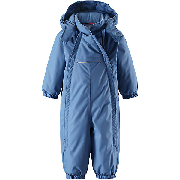 Комбинезон Reima Reimatec® CopenhagenОдежда<br>Характеристики товара:<br><br>• цвет: голубой <br>• состав: 100% полиэстер<br>• утеплитель: 100% полиэстер, 160 г/м2 (soft loft insulation)<br>• сезон: зима<br>• температурный режим: от 0 до -20С<br>• водонепроницаемость: 15000 мм<br>• воздухопроницаемость: 7000 мм<br>• износостойкость: 40000 циклов (тест Мартиндейла)<br>• особенности модели: однотонный, с двойной молнией<br>• основные швы проклеены и не пропускают влагу<br>• водо- и ветронепроницаемый, дышащий и грязеотталкивающий материал<br>• утепленная задняя часть изделия<br>• гладкая подкладка из полиэстера<br>• безопасный, съемный капюшон на кнопках<br>• защита подбородка от защемления<br>• эластичные манжеты и штанины<br>• эластичная резинка по краю капюшона<br>• эластичная талия<br>• съемные эластичные штрипки <br>• длинная двойная молния для легкого надевания<br>• передний карман на молнии<br>• светоотражающие детали<br>• страна бренда: Финляндия<br>• страна изготовитель: Китай<br><br>Стильный, зимний комбинезон на молнии Reimatec® в котором дети могут гулять целый день и при этом не намокнуть. Водо и ветронепроницаемый комбинезон изготовлен из прочного, дышащего материала.<br><br>Благодаря двум молниям во всю длину, этот комбинезон легко надевается, а утепленная задняя часть обеспечит сухость во время зимних забав. Передний карман на молнии. Съемный капюшон обеспечит защиту от пронизывающего ветра и безопасность во время игр на свежем воздухе. <br><br>Кнопки легко отстегиваются, если капюшон случайно за что-нибудь зацепится. По краю капюшон снабжен эластичной резинкой. Зимний комбинезон с капюшоном очень прост в уходе, кроме того, его можно сушить в сушильной машине.<br><br>Комбинезон Copenhagen Reimatec® Reima от финского бренда Reima (Рейма) можно купить в нашем интернет-магазине.<br><br>Ширина мм: 356<br>Глубина мм: 10<br>Высота мм: 245<br>Вес г: 519<br>Цвет: синий<br>Возраст от месяцев: 6<br>Возраст до месяцев: 9<br>Пол: Мужской<br>Возраст: Детский<br>Раз