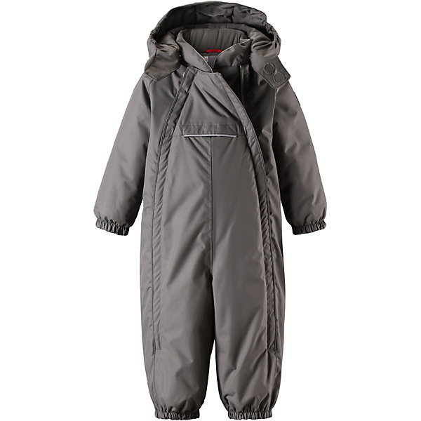 Комбинезон Reima Reimatec® CopenhagenВерхняя одежда<br>Характеристики товара:<br><br>• цвет: серый <br>• состав: 100% полиэстер<br>• утеплитель: 100% полиэстер, 160 г/м2 (soft loft insulation)<br>• сезон: зима<br>• температурный режим: от 0 до -20С<br>• водонепроницаемость: 15000 мм<br>• воздухопроницаемость: 7000 мм<br>• износостойкость: 40000 циклов (тест Мартиндейла)<br>• особенности модели: однотонный, с двойной молнией<br>• основные швы проклеены и не пропускают влагу<br>• водо- и ветронепроницаемый, дышащий и грязеотталкивающий материал<br>• утепленная задняя часть изделия<br>• гладкая подкладка из полиэстера<br>• безопасный, съемный капюшон на кнопках<br>• защита подбородка от защемления<br>• эластичные манжеты и штанины<br>• эластичная резинка по краю капюшона<br>• эластичная талия<br>• съемные эластичные штрипки <br>• длинная двойная молния для легкого надевания<br>• передний карман на молнии<br>• светоотражающие детали<br>• страна бренда: Финляндия<br>• страна изготовитель: Китай<br><br>Стильный, зимний комбинезон на молнии Reimatec® в котором дети могут гулять целый день и при этом не намокнуть. Водо и ветронепроницаемый комбинезон изготовлен из прочного, дышащего материала.<br><br>Благодаря двум молниям во всю длину, этот комбинезон легко надевается, а утепленная задняя часть обеспечит сухость во время зимних забав. Передний карман на молнии. Съемный капюшон обеспечит защиту от пронизывающего ветра и безопасность во время игр на свежем воздухе. <br><br>Кнопки легко отстегиваются, если капюшон случайно за что-нибудь зацепится. По краю капюшон снабжен эластичной резинкой. Зимний комбинезон с капюшоном очень прост в уходе, кроме того, его можно сушить в сушильной машине.<br><br>Комбинезон Copenhagen Reimatec® Reima от финского бренда Reima (Рейма) можно купить в нашем интернет-магазине.<br><br>Ширина мм: 356<br>Глубина мм: 10<br>Высота мм: 245<br>Вес г: 519<br>Цвет: серый<br>Возраст от месяцев: 6<br>Возраст до месяцев: 9<br>Пол: Унисекс<br>Возраст: Детский<