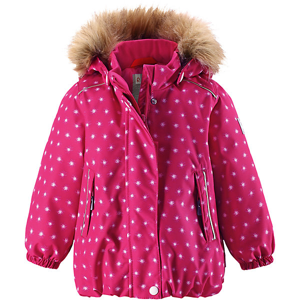 Куртка Reima Reima Pihlaja для девочкиВерхняя одежда<br>Характеристики товара:<br><br>• цвет: розовый <br>• состав: 100% полиэстер<br>• утеплитель: 100% полиэстер, 160 г/м2 (soft loft insulation)<br>• сезон: зима<br>• температурный режим: от 0 до -20С<br>• водонепроницаемость: 15000 мм<br>• воздухопроницаемость: 7000 мм<br>• износостойкость: 40000 циклов (тест Мартиндейла)<br>• особенности модели: с рисунком, с мехом<br>• основные швы проклеены и не пропускают влагу<br>• водо- и ветронепроницаемый, дышащий и грязеотталкивающий материал<br>• гладкая подкладка из полиэстера<br>• безопасный, съемный капюшон на кнопках<br>• съемный искусственный мех на капюшоне<br>• защита подбородка от защемления<br>• эластичные манжеты<br>• регулируемый подол<br>• застежка: молния<br>• дополнительная планка на кнопках<br>• два кармана на молнии<br>• светоотражающие детали<br>• страна бренда: Финляндия<br>• страна изготовитель: Китай<br><br>Зимняя куртка с капюшоном для девочки. Все швы проклеены и водонепроницаемы, а сама она изготовлена из водо и ветронепроницаемого, грязеотталкивающего материала. Гладкая подкладка и длинная застежка на молнии облегчают надевание.<br><br>Съемный капюшон защищает от ветра, к тому же он абсолютно безопасен – легко отстегнется, если вдруг за что-нибудь зацепится. Маленькие карманы на молнии надежно сохранят все сокровища. Обратите внимание: куртку можно сушить в сушильной машине. Зимняя куртка на молнии для девочки декорирована мелким рисунком в виде звездочек.<br><br>Куртка Pihlaja для девочки Reimatec® Reima от финского бренда Reima (Рейма) можно купить в нашем интернет-магазине.<br>Ширина мм: 356; Глубина мм: 10; Высота мм: 245; Вес г: 519; Цвет: розовый; Возраст от месяцев: 15; Возраст до месяцев: 18; Пол: Женский; Возраст: Детский; Размер: 86,80,98,92; SKU: 6908230;