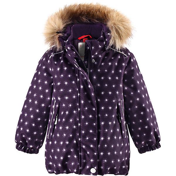 Куртка Reima Reima Pihlaja для девочкиВерхняя одежда<br>Характеристики товара:<br><br>• цвет: фиолетовый <br>• состав: 100% полиэстер<br>• утеплитель: 100% полиэстер, 160 г/м2 (soft loft insulation)<br>• сезон: зима<br>• температурный режим: от 0 до -20С<br>• водонепроницаемость: 15000 мм<br>• воздухопроницаемость: 7000 мм<br>• износостойкость: 40000 циклов (тест Мартиндейла)<br>• особенности модели: с рисунком, с мехом<br>• основные швы проклеены и не пропускают влагу<br>• водо- и ветронепроницаемый, дышащий и грязеотталкивающий материал<br>• гладкая подкладка из полиэстера<br>• безопасный, съемный капюшон на кнопках<br>• съемный искусственный мех на капюшоне<br>• защита подбородка от защемления<br>• эластичные манжеты<br>• регулируемый подол<br>• застежка: молния<br>• дополнительная планка на кнопках<br>• два кармана на молнии<br>• светоотражающие детали<br>• страна бренда: Финляндия<br>• страна изготовитель: Китай<br><br>Зимняя куртка с капюшоном для девочки. Все швы проклеены и водонепроницаемы, а сама она изготовлена из водо и ветронепроницаемого, грязеотталкивающего материала. Гладкая подкладка и длинная застежка на молнии облегчают надевание.<br><br>Съемный капюшон защищает от ветра, к тому же он абсолютно безопасен – легко отстегнется, если вдруг за что-нибудь зацепится. Маленькие карманы на молнии надежно сохранят все сокровища. Обратите внимание: куртку можно сушить в сушильной машине. Зимняя куртка на молнии для девочки декорирована мелким рисунком в виде звездочек.<br><br>Куртка Pihlaja для девочки Reimatec® Reima от финского бренда Reima (Рейма) можно купить в нашем интернет-магазине.<br>Ширина мм: 356; Глубина мм: 10; Высота мм: 245; Вес г: 519; Цвет: лиловый; Возраст от месяцев: 12; Возраст до месяцев: 15; Пол: Женский; Возраст: Детский; Размер: 80,98,92,86; SKU: 6908235;
