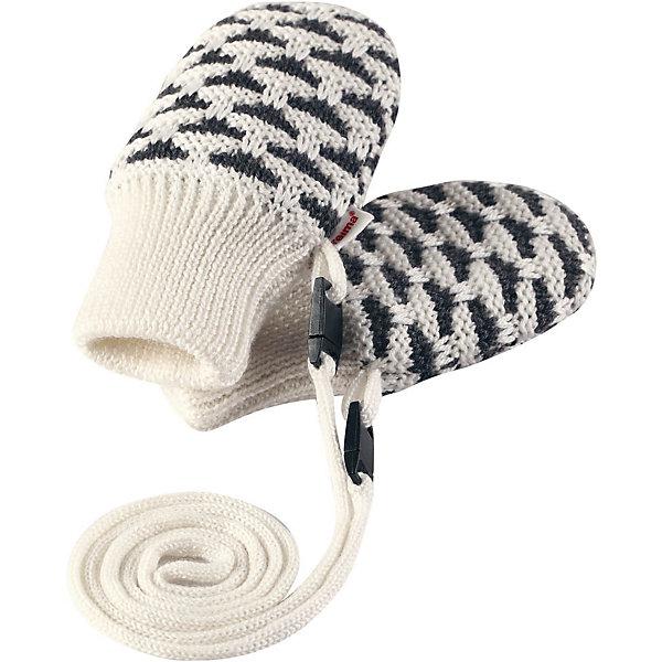 Варежки Reima UninenПерчатки, варежки<br>Характеристики товара:<br><br>• цвет: белый;<br>• состав: 50% шерсть, 50% полиакрил;<br>• утеплитель: 60 г/м2 (Comfort insulation)<br>• сезон: демисезон; <br>• особенности модели: вязаные, на завязках;<br>• вязка из смеси шерсти и Tencel®;<br>• завязки во всех размерах снабжены ограничителями;<br>• сплошная подкладка: приятный на ощупь хлопковый трикотаж с эластаном;<br>• эластичный кант на манжетах;<br>• страна бренда: Финляндия;<br>• страна изготовитель: Китай.<br><br>Вязаные варежки для новорожденных из теплой полушерстяной пряжи. Эти варежки с хлопковой подкладкой мягко окутывают и надежно согревают крохотные ручки в холодную погоду. Благодаря удобной тесемке варежки не потеряются. Тесемка снабжена защелкой с предохранителем, поэтому легко расстегнется, если случайно за что-нибудь зацепится. <br><br>Варежки Uninen Reima от финского бренда Reima (Рейма) можно купить в нашем интернет-магазине.<br>Ширина мм: 162; Глубина мм: 171; Высота мм: 55; Вес г: 119; Цвет: белый; Возраст от месяцев: 0; Возраст до месяцев: 12; Пол: Унисекс; Возраст: Детский; Размер: 0,1; SKU: 6908632;