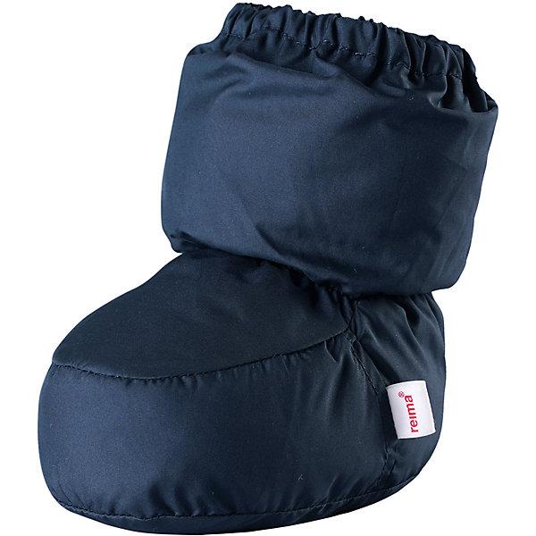 Пинетки Reima Uskallus  для мальчикаОбувь<br>Характеристики товара:<br><br>• цвет: синий;<br>• состав: 100% полиэстер;<br>• утеплитель: 80 г/м2 (Comfort insulation)<br>• сезон: демисезон; <br>• особенности модели: на подкладке;<br>• водоотталкивающий, ветронепроницаемый и грязеотталкивающий материал;<br>• сплошная подкладка: гладкий хлопковый трикотаж;<br>• легкая степень утепления;<br>• логотип Reima сбоку;<br>• страна бренда: Финляндия;<br>• страна изготовитель: Китай.<br><br>В этих пинетках для новорожденных маленьким ножкам будет тепло и уютно. Они сшиты из ветронепроницаемого и водоотталкивающего материала и внутри снабжены мягкой и уютной трикотажной подкладкой.<br><br>Пинетки Uskallus Reima от финского бренда Reima (Рейма) можно купить в нашем интернет-магазине.<br>Ширина мм: 152; Глубина мм: 126; Высота мм: 93; Вес г: 242; Цвет: синий; Возраст от месяцев: 0; Возраст до месяцев: 12; Пол: Мужской; Возраст: Детский; Размер: 0,1; SKU: 6908662;