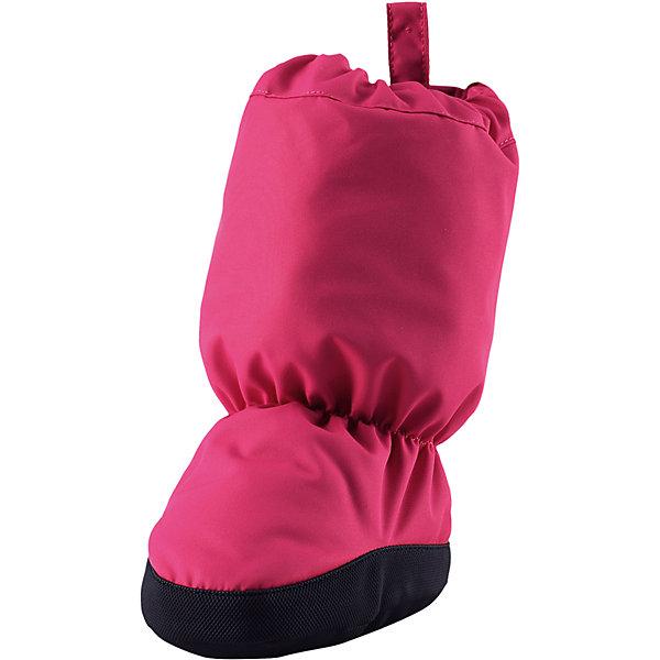 Пинетки Reima Antura  для девочкиПинетки и царапки<br>Характеристики товара:<br><br>• цвет: розовый;<br>• состав: 100% полиэстер;<br>• утеплитель: 170 г/м2 (comfort insulation);<br>• температурный режим: от -10 до -20С;<br>• сезон: зима; <br>• водонепроницаемость: 15000 мм;<br>• воздухопроницаемость: 7000 мм;<br>• износостойкость: 40000 (тест Мартиндейла);<br>• особенности модели: на подкладке;<br>• водонепроницаемый прочный материал;<br>• ветронепроницаемый и грязеотталкивающий материал;<br>• подкладка из полиэстера с небольшим начесом;<br>• антискользящая поверхность подошвы;<br>• логотип Reima;<br>• страна бренда: Финляндия;<br>• страна изготовитель: Китай.<br><br>Зимние пинетки изготовлены из дышащего водонепроницаемого материала, однако швы в них не проклеены – так что лужи придется обходить! Ребристая нескользящая подошва поможет сделать первые шаги на свежем воздухе, кроме того, материал отталкивает грязь. А с мягкой трикотажной подкладкой с начесом в пинетках невероятно удобно. <br><br>Пинетки Antura Reima от финского бренда Reima (Рейма) можно купить в нашем интернет-магазине.<br><br>Ширина мм: 152<br>Глубина мм: 126<br>Высота мм: 93<br>Вес г: 242<br>Цвет: розовый<br>Возраст от месяцев: 12<br>Возраст до месяцев: 18<br>Пол: Женский<br>Возраст: Детский<br>Размер: 2,0,1<br>SKU: 6908714