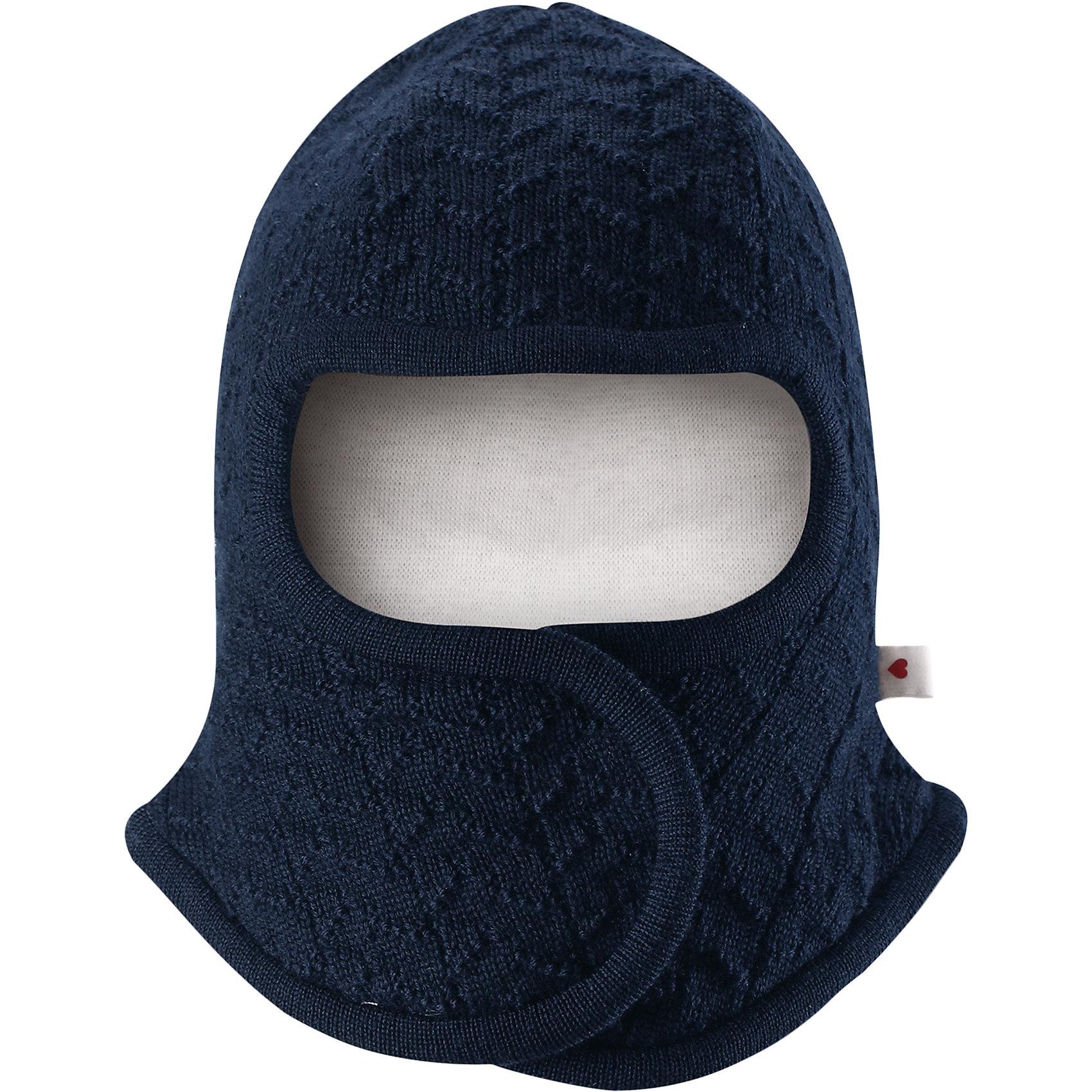 Шапка-шлем Reima LittlestШапочки<br>Характеристики товара:<br><br>• цвет: темно-синий;<br>• состав: 100% шерсть;<br>• подкладка: 97% хлопок, 3% эластан;<br>• температурный режим: от 0 до -20С;<br>• сезон: зима; <br>• особенности модели: на подкладке, на липучках;<br>• сплошная подкладка: гладкий хлопковый трикотаж;<br>• ткань из смеси мериносовой шерсти сохраняет тепло даже при намокании;<br>• шерсть идеально поддерживает температуру;<br>• товар сертифицирован Oeko-Tex, класс 1, одежда для малышей;<br>• мягкая подкладка из хлопка и эластана;<br>• задние швы отсутствуют;<br>• застежка на липучке спереди;<br>• логотип Reima сбоку;<br>• страна бренда: Финляндия;<br>• страна изготовитель: Китай.<br><br>Шапка-шлем для самых маленьких. Спереди она снабжена удобной застежкой на липучке, поэтому ее легко надевать. Продуманный дизайн предусматривает надежную защиту подбородка, шеи и щечек. Шапка-шлем связана из мериносовой шерсти с лёгкой и мягкой подкладкой из натурального хлопка, поэтому она мягкая и приятная на ощупь и идеально подходит для нежной кожи новорожденного. <br><br>Шапка-шлем Reima Littlest от финского бренда Reima (Рейма) можно купить в нашем интернет-магазине.<br><br>Ширина мм: 89<br>Глубина мм: 117<br>Высота мм: 44<br>Вес г: 155<br>Цвет: синий<br>Возраст от месяцев: 6<br>Возраст до месяцев: 9<br>Пол: Унисекс<br>Возраст: Детский<br>Размер: 42-44,34-36,38-40<br>SKU: 6908774