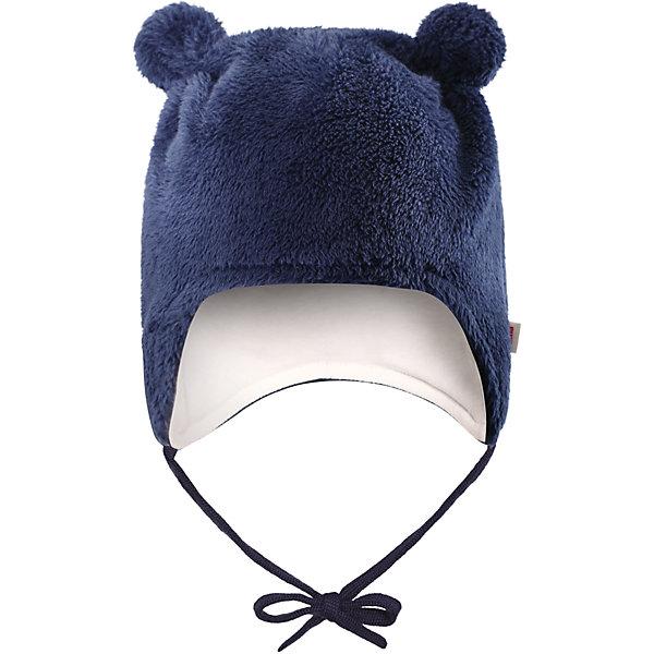 Флисовая шапка Reima Leo для мальчикаШапки и шарфы<br>Характеристики товара:<br><br>• цвет: темно-синий;<br>• состав: 100% полиэстер, флис;<br>• подкладка: 97% хлопок, 3% эластан;<br>• температурный режим: от 0 до -20С;<br>• сезон: зима; <br>• особенности модели: флисовая, на завязках;<br>• дышащий, теплый и быстросохнущий флис;<br>• сплошная подкладка: мягкий теплый триотаж;<br>• задние швы отсутствуют;<br>• шапка на завязках, сверху декоративные ушки;<br>• логотип Reima сбоку;<br>• страна бренда: Финляндия;<br>• страна изготовитель: Китай.<br><br>Флисовая шапка на завязках для новорожденных сшита из мягкого и пушистого ворсового флиса и снабжена симпатичной подкладкой из джерси. Флис – дышащий и быстросохнущий материал, а благодаря отсутствию заднего шва шапка идеально подойдет для чувствительной кожи младенца. Довершите образ парой симпатичных варежек Lepus.<br><br>Шапка Leo Reima от финского бренда Reima (Рейма) можно купить в нашем интернет-магазине.<br><br>Ширина мм: 89<br>Глубина мм: 117<br>Высота мм: 44<br>Вес г: 155<br>Цвет: синий<br>Возраст от месяцев: 0<br>Возраст до месяцев: 3<br>Пол: Мужской<br>Возраст: Детский<br>Размер: 34-36,42-44,38-40<br>SKU: 6908826