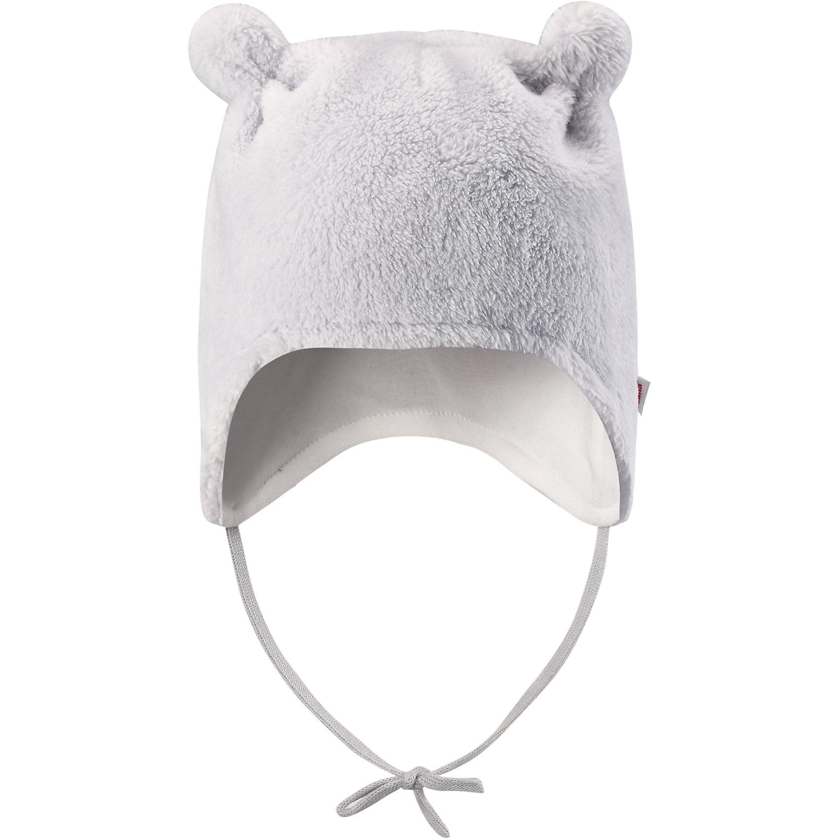 Флисовая шапка Reima LeoШапки и шарфы<br>Характеристики товара:<br><br>• цвет: серый;<br>• состав: 100% полиэстер, флис;<br>• подкладка: 97% хлопок, 3% эластан;<br>• температурный режим: от 0 до -20С;<br>• сезон: зима; <br>• особенности модели: флисовая, на завязках;<br>• дышащий, теплый и быстросохнущий флис;<br>• сплошная подкладка: мягкий теплый триотаж;<br>• задние швы отсутствуют;<br>• шапка на завязках, сверху декоративные ушки;<br>• логотип Reima сбоку;<br>• страна бренда: Финляндия;<br>• страна изготовитель: Китай.<br><br>Флисовая шапка на завязках для новорожденных сшита из мягкого и пушистого ворсового флиса и снабжена симпатичной подкладкой из джерси. Флис – дышащий и быстросохнущий материал, а благодаря отсутствию заднего шва шапка идеально подойдет для чувствительной кожи младенца. Довершите образ парой симпатичных варежек Lepus.<br><br>Шапка Leo Reima от финского бренда Reima (Рейма) можно купить в нашем интернет-магазине.<br><br>Ширина мм: 89<br>Глубина мм: 117<br>Высота мм: 44<br>Вес г: 155<br>Цвет: серый<br>Возраст от месяцев: 6<br>Возраст до месяцев: 9<br>Пол: Унисекс<br>Возраст: Детский<br>Размер: 38-40,42-44,34-36<br>SKU: 6908830