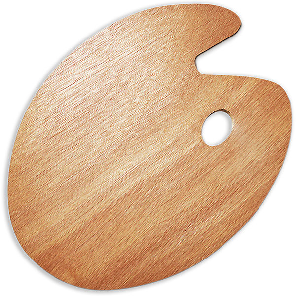 Овальная деревянная палитра Малевичъ, 30х40 смАксессуары для творчества<br>Характеристики:<br><br>• возраст: от 3 лет<br>• материал: древесина<br>• размер: 30х40 см.<br><br>Деревянная палитра Малевичъ классической овальной формы предназначена для смешивания гуашевых, акриловых и масляных красок. Благодаря анатомически выверенным отверстиям для пальцев палитра удобно ложится в руку, делая процесс живописи легким и комфортным, а ее гладко отполированная поверхность при необходимости легко очищается от лишней краски с помощью ветоши и шпателя.<br><br>Деревянная палитра Малевичъ изготовлена из экологически чистого, возобновляемого материала, удобна и безопасна в работе, прослужит долгое время.<br><br>Модель увеличенного размера особенно оценят художники, пишущие большие полотна, которым необходимо смешивать значительное количество красок.<br><br>Овальную деревянную палитру Малевичъ, 30х40 см можно купить в нашем интернет-магазине.<br><br>Ширина мм: 300<br>Глубина мм: 400<br>Высота мм: 2<br>Вес г: 219<br>Возраст от месяцев: 36<br>Возраст до месяцев: 2147483647<br>Пол: Унисекс<br>Возраст: Детский<br>SKU: 6910377