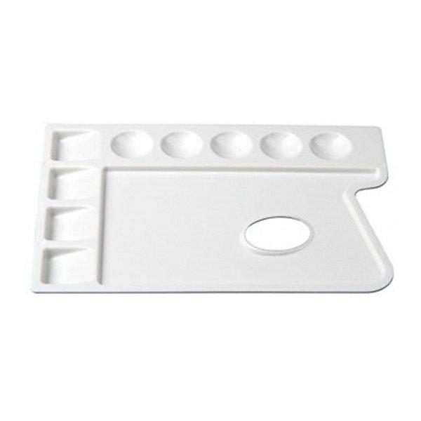 Пластиковая прямоугольная палитра Малевичъ, 9 ячеекАксессуары для творчества<br>Характеристики:<br><br>• возраст: от 3 лет<br>• размер: 30х22 см.<br>• количество ячеек: 9<br>• материал: пластик<br><br>Благодаря анатомически выверенной форме палитра удобно ложится в руку, делая процесс живописи легким и комфортным, а ее гладкая поверхность при необходимости легко очищается от лишней краски. Белый цвет палитры позволяет оценить, как тот или иной оттенок будет выглядеть на белом холсте или бумаге. Удобные ячейки позволяют комфортно работать даже с сильно разведенными красками.<br><br>Палитра Малевичъ изготовлена из гипоаллергенного пластика, тщательно отполирована, удобна и безопасна в работе, прослужит долгое время.<br><br>Пластиковую прямоугольную палитру Малевичъ, 9 ячеек можно купить в нашем интернет-магазине.<br>Ширина мм: 220; Глубина мм: 10; Высота мм: 295; Вес г: 124; Возраст от месяцев: 36; Возраст до месяцев: 2147483647; Пол: Унисекс; Возраст: Детский; SKU: 6910381;