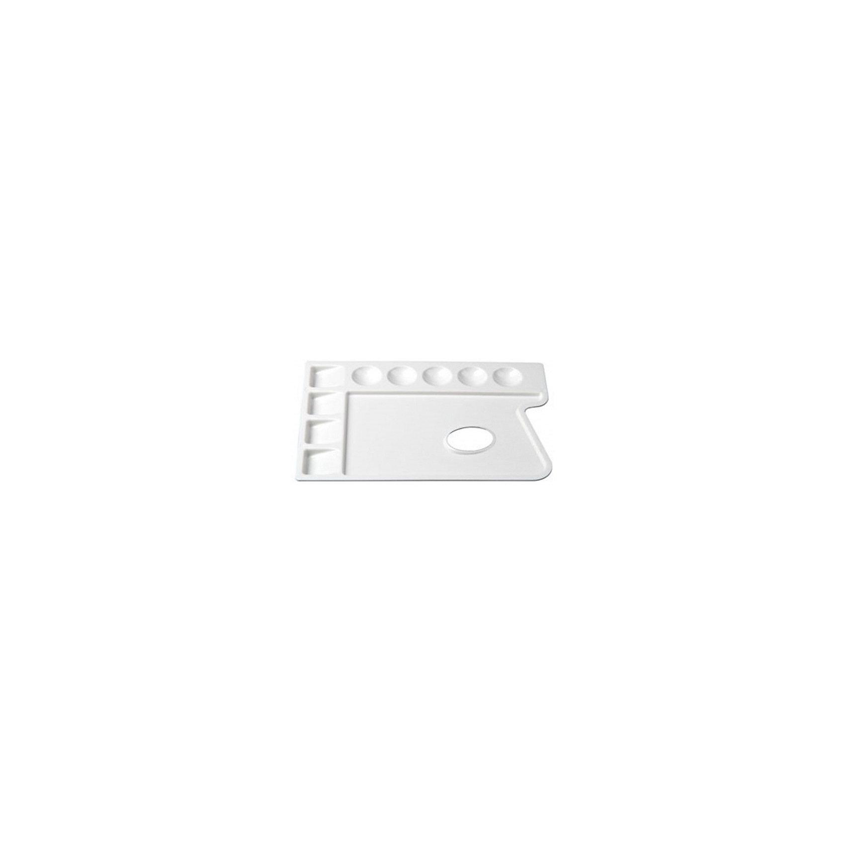 Пластиковая прямоугольная палитра Малевичъ, 9 ячеекАксессуары для творчества<br>Характеристики:<br><br>• возраст: от 3 лет<br>• размер: 30х22 см.<br>• количество ячеек: 9<br>• материал: пластик<br><br>Благодаря анатомически выверенной форме палитра удобно ложится в руку, делая процесс живописи легким и комфортным, а ее гладкая поверхность при необходимости легко очищается от лишней краски. Белый цвет палитры позволяет оценить, как тот или иной оттенок будет выглядеть на белом холсте или бумаге. Удобные ячейки позволяют комфортно работать даже с сильно разведенными красками.<br><br>Палитра Малевичъ изготовлена из гипоаллергенного пластика, тщательно отполирована, удобна и безопасна в работе, прослужит долгое время.<br><br>Пластиковую прямоугольную палитру Малевичъ, 9 ячеек можно купить в нашем интернет-магазине.<br><br>Ширина мм: 220<br>Глубина мм: 10<br>Высота мм: 295<br>Вес г: 124<br>Возраст от месяцев: 36<br>Возраст до месяцев: 2147483647<br>Пол: Унисекс<br>Возраст: Детский<br>SKU: 6910381