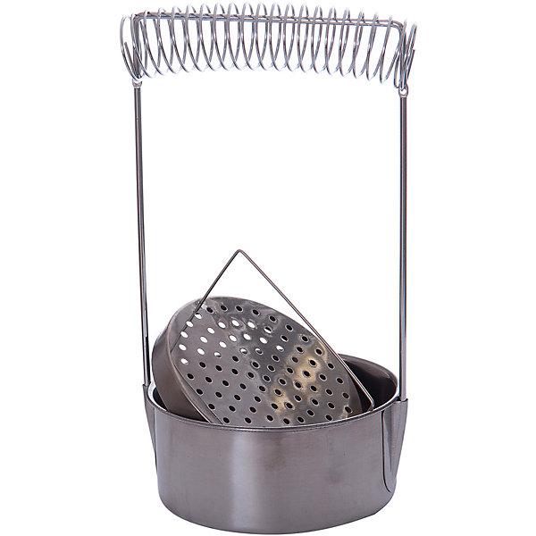 Кистемойка из аллюминия, МалевичъКисти художественные<br>Характеристики:<br><br>• диаметр: 10,5 см.<br>• высота: 18 см.<br>• материал: алюминий<br>• подходит как для быстрого ополаскивания кистей, так и для их замачивания в растворителе<br>• позволяет отмывать инструменты даже от засохшей краски<br>• не подвержена воздействию химических жидкостей<br>• упругая пружина надежно удерживает ручки кистей<br>• имеет металлическое сито для быстрого очищения инструментов и фильтрации жидкости<br><br>Аксессуар, с помощью которого удобно ополаскивать кисти в процессе работы и отмывать их от засохшей краски, не повреждая ворса.<br><br>Вместительная кистемойка Малевичъ изготовлена из не подверженного коррозии алюминия, устойчивого к воздействию растворителей, разбавителей и других химических жидкостей. Форма в виде низкого цилиндра с широким основанием гарантирует устойчивость приспособления, а его стальная пружина способна надежно удерживать несколько кистей одновременно.<br><br>Кистемойку можно использовать в качестве приспособления для хранения кистей.<br><br>Кистемойку из алюминия, Малевичъ можно купить в нашем интернет-магазине.<br><br>Ширина мм: 120<br>Глубина мм: 50<br>Высота мм: 150<br>Вес г: 161<br>Возраст от месяцев: 36<br>Возраст до месяцев: 2147483647<br>Пол: Унисекс<br>Возраст: Детский<br>SKU: 6910384