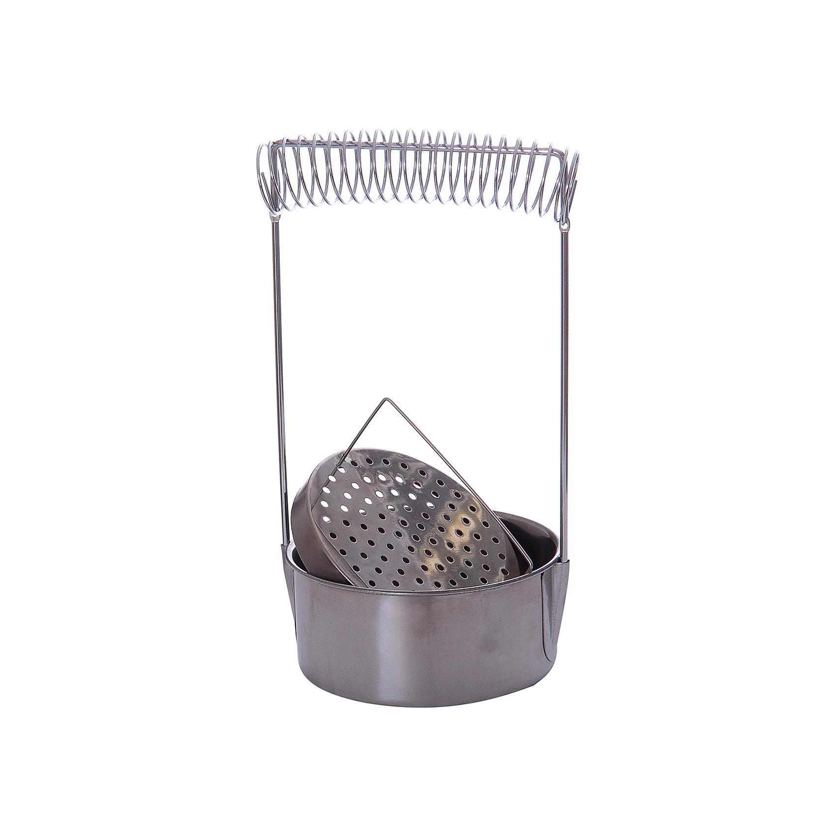 Кистемойка из аллюминия, МалевичъПринадлежности для творчества<br>Характеристики:<br><br>• диаметр: 10,5 см.<br>• высота: 18 см.<br>• материал: алюминий<br>• подходит как для быстрого ополаскивания кистей, так и для их замачивания в растворителе<br>• позволяет отмывать инструменты даже от засохшей краски<br>• не подвержена воздействию химических жидкостей<br>• упругая пружина надежно удерживает ручки кистей<br>• имеет металлическое сито для быстрого очищения инструментов и фильтрации жидкости<br><br>Аксессуар, с помощью которого удобно ополаскивать кисти в процессе работы и отмывать их от засохшей краски, не повреждая ворса.<br><br>Вместительная кистемойка Малевичъ изготовлена из не подверженного коррозии алюминия, устойчивого к воздействию растворителей, разбавителей и других химических жидкостей. Форма в виде низкого цилиндра с широким основанием гарантирует устойчивость приспособления, а его стальная пружина способна надежно удерживать несколько кистей одновременно.<br><br>Кистемойку можно использовать в качестве приспособления для хранения кистей.<br><br>Кистемойку из алюминия, Малевичъ можно купить в нашем интернет-магазине.<br><br>Ширина мм: 120<br>Глубина мм: 50<br>Высота мм: 150<br>Вес г: 161<br>Возраст от месяцев: 36<br>Возраст до месяцев: 2147483647<br>Пол: Унисекс<br>Возраст: Детский<br>SKU: 6910384