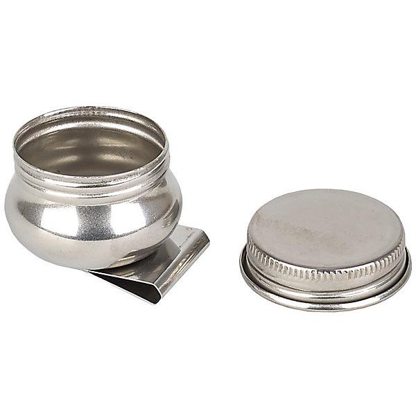Масленка металлическая с крышкой , МалевичъАксессуары для творчества<br>Характеристики:<br><br>• диаметр: 3,6 см.<br>• высота: 2,7 см.<br>• материал: металл<br>• легкая и прочная<br>• с антикоррозийным покрытием<br>• устойчива к воздействию разбавителей, растворителей и других химических веществ<br>• оснащена надежным креплением на палитру<br>• имеет удобную завинчивающуюся крышечку<br><br>Необходимый аксессуар для масляной живописи. Небольшая емкость, в которую при работе над картиной наливают немного масла или разбавителя.<br><br>Удобная масленка Малевичъ может крепиться непосредственно на палитру, чтобы быть всегда под рукой художника. В ней можно быстро приготовить порцию «тройника» или смешать необходимые жидкости. Надежная завинчивающаяся крышечка предохраняет содержимое баночки от испарения, загрязнения или случайного проливания.<br><br>Масленку металлическую с крышкой , Малевичъ можно купить в нашем интернет-магазине.<br><br>Ширина мм: 400<br>Глубина мм: 25<br>Высота мм: 35<br>Вес г: 31<br>Возраст от месяцев: 36<br>Возраст до месяцев: 2147483647<br>Пол: Унисекс<br>Возраст: Детский<br>SKU: 6910385