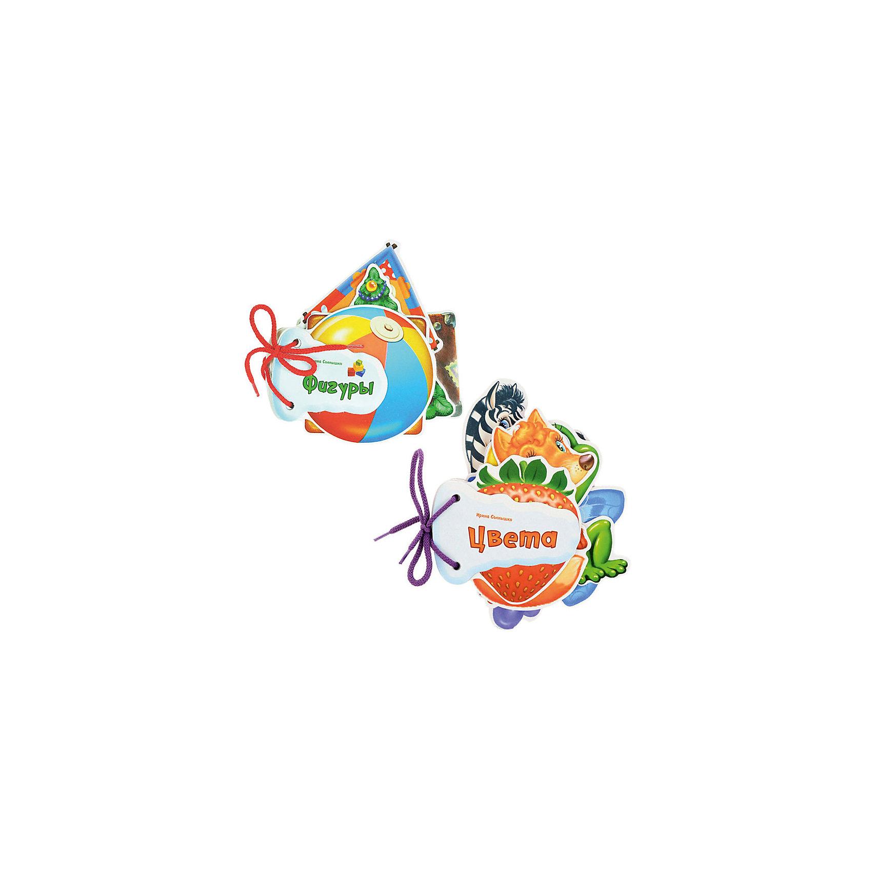 Комплект из 2 книг, серия Отгадай-каПервые книги малыша<br>Характеристики:<br><br>• возраст: от 1 года<br>• в комплекте: 2 книги (Фигуры, Цвета)<br>• автор: Солнышко Ирина<br>• издательство: НД Плэй<br>• серия: Отгадай-ка!<br>• тип обложки: картон<br>• иллюстрации: цветные<br>• количество страниц в каждой книге: 14 (картон)<br>• размер одной книги: 15,6х15,5х1,5 см.<br>• вес одной книги: 82 гр.<br>• ISBN: 4690241154776<br><br>Комплект из 2 книг серии «Отгадай-ка!» познакомит малыша с фигурами и цветами.<br><br>Серия «Отгадай-ка!» создана специально для самых маленьких. Каждая страничка книжки - это прочная фигурка в форме фрукта, животного, любимой игрушки. Развяжите шнурок и Вы получите замечательные карточки для игры в слова и знакомства малыша с окружающим миром. К тому же на обороте каждой странички Вы найдёте забавные загадки-доскладушки, которые помогут развить речь и воображение малыша.<br><br>Комплект из 2 книг, серия Отгадай-ка можно купить в нашем интернет-магазине.<br><br>Ширина мм: 130<br>Глубина мм: 16<br>Высота мм: 145<br>Вес г: 200<br>Возраст от месяцев: 36<br>Возраст до месяцев: 2147483647<br>Пол: Унисекс<br>Возраст: Детский<br>SKU: 6910534