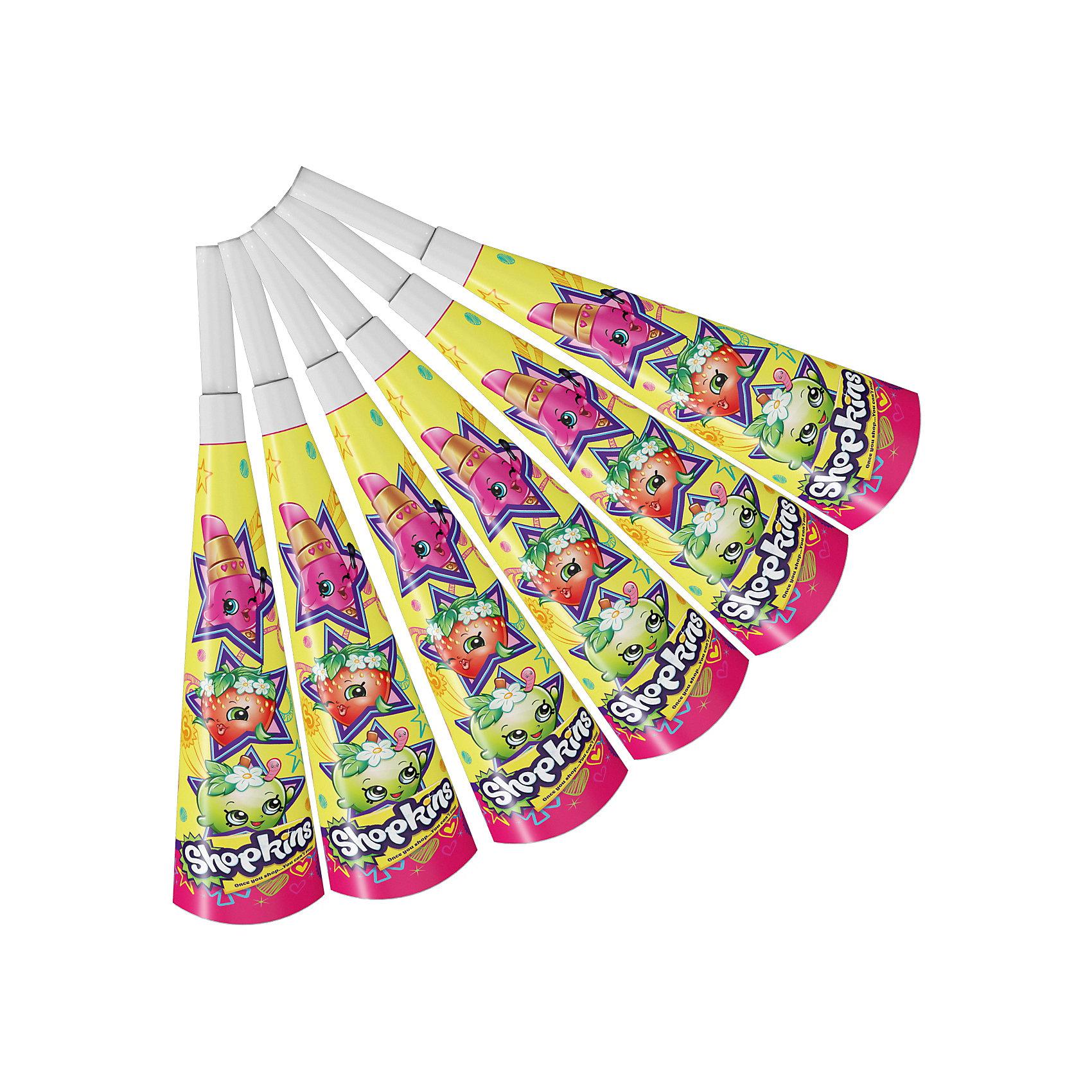Дудочки  6 шт.,  ShopkinsВсё для праздника<br>Веселые бумажные дудочки с героями мультфильма Шопкинс развеселят ребятишек и помогут устроить множество увлекательных игр. А главное, играя с ними, малыши будут тренировать свою дыхательную систему, что очень полезно для здоровья их растущих организмов.&#13;<br>В наборе Шопкинс 6 бумажных дудочек, декорированных ярким, привлекательным принтом с любимыми героями мультфильма. А чтобы украсить детский праздник в единой стилистике, вы также можете выбрать другие товары для праздника из данной серии.<br><br>Ширина мм: 155<br>Глубина мм: 40<br>Высота мм: 270<br>Вес г: 30<br>Возраст от месяцев: 36<br>Возраст до месяцев: 2147483647<br>Пол: Женский<br>Возраст: Детский<br>SKU: 6912279