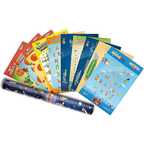 Набор плакатов в тубусе, Банда УмниковАзбуки<br>Характеристики товара:<br><br>• возраст: от 3 лет<br>• комплект: 10 ярких плакатов в тубусе.<br>• материал: бумага, картон.<br>• размер упаковки: 6.5 x 6.5 x 40 см.<br>• упаковка: тубус.<br>• размер плакатов: 34 х 50 см.<br>• страна бренда: Россия.<br><br>В состав набора входят 10 ярких красочных плакатов, охватывающих различные области знаний, таких как математика, геометрия, логика, русский и английский язык.  Обучающие плакаты – это настоящие настенные репетиторы. Информация на них представлена ярко, наглядно и красочно. <br><br>Ребенок сможет ознакомиться с уникальной методикой по изучению таблицы умножения, долей, дробей, геометрических фигур. Плакаты с алфавитами помогут в запоминании русских и английских букв.<br><br>Все десять плакатов упакованы в подарочный тубус, что делает набор замечательным подарком для юного умника.<br><br>Набор плакатов в тубусе, Банда Умников можно купить в нашем интернет-магазине.<br><br>Ширина мм: 400<br>Глубина мм: 65<br>Высота мм: 65<br>Вес г: 355<br>Возраст от месяцев: 60<br>Возраст до месяцев: 2147483647<br>Пол: Унисекс<br>Возраст: Детский<br>SKU: 6912292