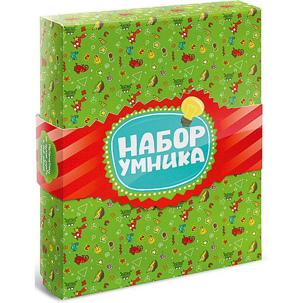 Развивающая настольная игра Набор Умника, Банда УмниковОбучающие игры для дошкольников<br>Характеристики товара:<br><br>• возраст: от 6 лет;<br>• комплект: шесть игр, открытки;<br>• количество предполагаемых игроков: 2-6;<br>• время игры: 30-40 минут;<br>• материал: картон, пластик, дерево, текстиль;<br>• размер упаковки: 19х10х25 см;<br>• упаковка: картонная коробка;<br>• вес: 1 кг;<br>• страна бренда: Россия.<br><br>Комплект состоит из шести игр: Турбосчет, Трафик-джем, Фрукто 10, Геометрика, Много-Много, Делиссимо. <br><br>Помощником в учебе и хорошим дополнением к вечеринке может стать подарочный набор от компании Банда умников. Благодаря ему математика перестанет быть сложной и скучной, а увлекательный игровой процесс поможет разобраться играючи даже с сложными темами. Также предусмотрены разные уровни сложности, за счет чего играть становится интересно не только детям, но и их родителям. <br><br>Специальным подарком, входящим в набор, станут яркие и красочные открытки.<br><br>Развивающую настольную игру Набор Умника можно купить в нашем интернет-магазине.<br>Ширина мм: 250; Глубина мм: 190; Высота мм: 100; Вес г: 1000; Возраст от месяцев: 72; Возраст до месяцев: 2147483647; Пол: Унисекс; Возраст: Детский; SKU: 6912293;