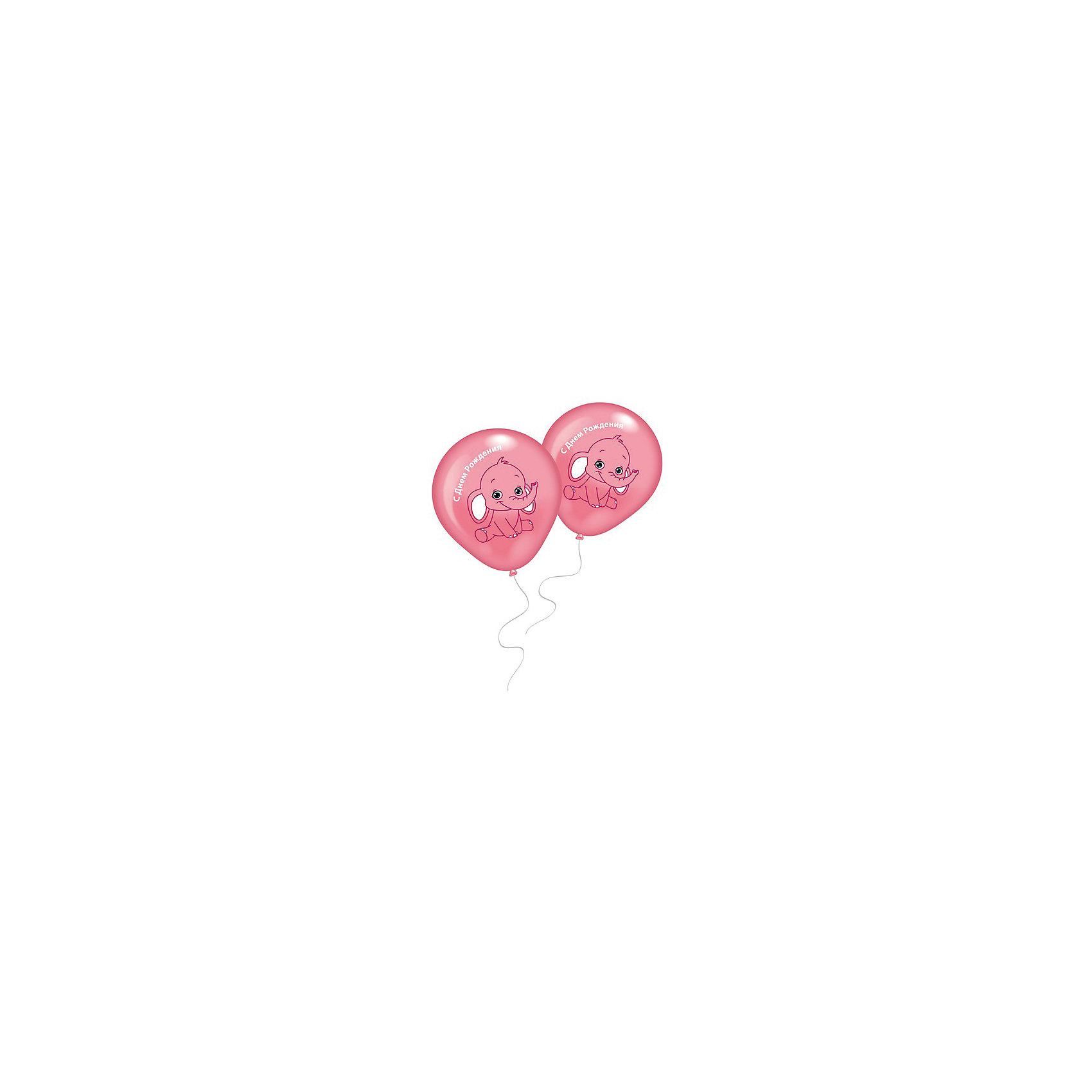 8 шариков с рисунком Розовый слоненокВоздушные шары<br>Характеристики товара:<br><br>• возраст: от 3 лет;<br>• упаковка: пакет;<br>• размер упаковки: 20х12х1 см.;<br>• количество шаров: 8 шт.;<br>• цвет: розовый;<br>• состав: латекс 100%;<br>• бренд, страна: Everts, Россия;<br>• страна-производитель: США.<br><br>Набор из 8 шаров с рисунком «Розовый слоненок» и надписью «С днем рождения» помогут ярко украсить комнату и подарят заряд радости и позитива всем гостям вашего торжества.<br><br>Насыщенный цвет, легкое надувание и высококачественные материалы выгодно отличают их среди других праздничных аксессуаров. Вы можете надувать шарики самостоятельно или воспользоваться насосом от Everts, который быстро справится с задачей. <br><br>8 шаров «Розовый слоненок»,  Everts (Эвертс)  можно купить в нашем интернет-магазине.<br><br>Ширина мм: 120<br>Глубина мм: 200<br>Высота мм: 10<br>Вес г: 10<br>Возраст от месяцев: 36<br>Возраст до месяцев: 120<br>Пол: Унисекс<br>Возраст: Детский<br>SKU: 6912885