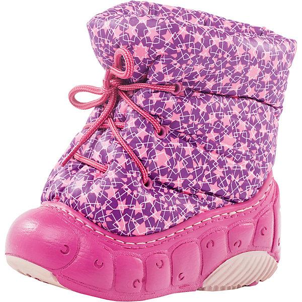 Сноубутсы для девочки КотофейСноубутсы<br>Характеристики товара:<br><br>• цвет: розовый<br>• внешний материал: текстиль<br>• внутренний материал: шерстяной мех<br>• стелька: шерстяной мех<br>• подошва: ТЭП<br>• сезон: зима<br>• температурный режим: от -15 до +5<br>• застежка: шнурки<br>• анатомические <br>• защита мыса<br>• страна бренда: Россия<br>• страна изготовитель: Россия<br><br>Сноубутсы для девочки Котофей легко надеваются и хорошо держатся на ноге благодаря шнуровке. Розовые детские дутики состоят из верха - водоотталкивающего материла, и непромокаемого низа. <br><br>Продукция отечественной компании Котофей хорошо зарекомендовала себя благодаря доступным ценам и высокому качеству исполнения. В новой коллекции - большой выбор моделей обуви для школы, спортивных, зимних и демисезонных.<br><br>Сноубутсы для девочки Котофей можно купить в нашем интернет-магазине.<br>Ширина мм: 257; Глубина мм: 180; Высота мм: 130; Вес г: 420; Цвет: лиловый; Возраст от месяцев: 12; Возраст до месяцев: 15; Пол: Женский; Возраст: Детский; Размер: 20/21,22/23,18/19; SKU: 6913014;
