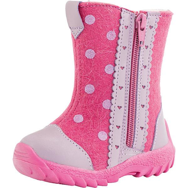 Валенки для девочки КотофейВаленки<br>Характеристики товара:<br><br>• цвет: розовый<br>• внешний материал: войлок<br>• внутренний материал: шерстяной мех<br>• стелька: шерстяной мех<br>• подошва: ТЭП<br>• сезон: зима<br>• температурный режим: от -20 до +5<br>• застежка: молния<br>• анатомические <br>• защита мыса<br>• страна бренда: Россия<br>• страна изготовитель: Россия<br><br>Яркие детские валенки украшены аппликацией. Теплые валенки для девочки Котофей легко надеваются и хорошо держатся на ноге. Валенки для ребенка помогут согреть ноги даже в сильные холода.<br><br>Валенки для девочки Котофей можно купить в нашем интернет-магазине.<br>Ширина мм: 257; Глубина мм: 180; Высота мм: 130; Вес г: 420; Цвет: розовый; Возраст от месяцев: 21; Возраст до месяцев: 24; Пол: Женский; Возраст: Детский; Размер: 24,21,23,22; SKU: 6913128;