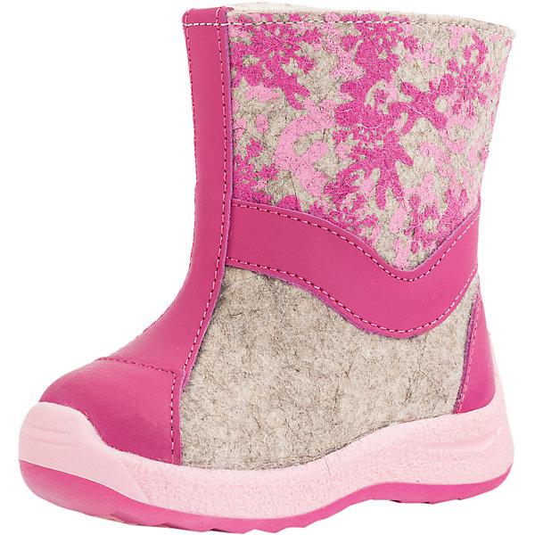 Валенки для девочки КотофейВаленки<br>Характеристики товара:<br><br>• цвет: розовый<br>• внешний материал: войлок<br>• внутренний материал: шерстяной мех<br>• стелька: шерстяной мех<br>• подошва: ТЭП<br>• сезон: зима<br>• температурный режим: от -20 до +5<br>• застежка: молния<br>• анатомические <br>• защита мыса<br>• страна бренда: Россия<br>• страна изготовитель: Россия<br><br>Детские валенки состоят из верха - войлочного материла, и непромокаемого низа. Такие детские валенки декорированы аппликацией. Валенки для девочки сделаны из качественных натуральных материалов.<br><br>Валенки для девочки Котофей можно купить в нашем интернет-магазине.<br>Ширина мм: 257; Глубина мм: 180; Высота мм: 130; Вес г: 420; Цвет: розовый; Возраст от месяцев: 21; Возраст до месяцев: 24; Пол: Женский; Возраст: Детский; Размер: 24,21,23,22; SKU: 6913133;