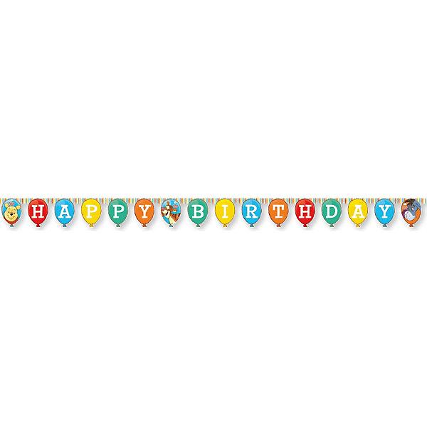 Гирлянда Happy BirthdayБаннеры и гирлянды для детской вечеринки<br>Характеристики товара:<br><br>• возраст: от 3 лет;<br>• упаковка: пакет;<br>• размер упаковки: 26х19х5 см.;<br>• количество в упаковки - 1 шт.;<br>• длина гирлянды - 240 см.;<br>• материал: картон;<br>• бренд, страна: Procos, Россия;<br>• страна-производитель: Греция.<br><br>Гирлянда «Happy Birthday: Винни-Пух» - это красочные флажки с изображением забавных персонажей любимого мультфильма медвежонка Винни-Пуха,  Хрюни, ослика Иа и Тигры. Такая гирлянда будет отличным укращением помещения и сделает  торжество Вашего ребенка еще интересней, увлекательней и веселей. <br><br>Гирлянда от греческого бренда Procos, который на протяжении многих лет производит качественные товары для детского праздника, товар изготовлен из безопасных для здоровья ребенка материалов, прошедших соответствие европейским стандартам качества. <br><br>Гирлянда «Happy Birthday: Винни-Пух» , 240 см., 1 шт., Procos (Прокос)  можно купить в нашем интернет-магазине.<br>Ширина мм: 5; Глубина мм: 190; Высота мм: 260; Вес г: 5; Возраст от месяцев: 36; Возраст до месяцев: 120; Пол: Унисекс; Возраст: Детский; SKU: 6914339;
