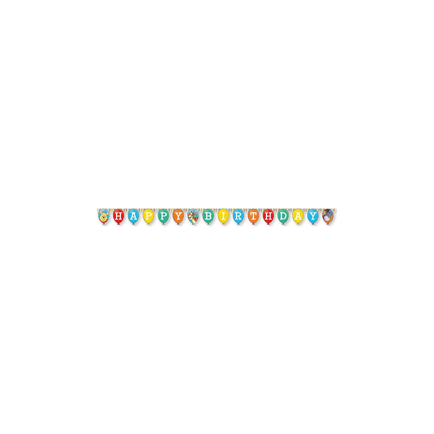 Гирлянда Happy BirthdayВсё для праздника<br>Характеристики товара:<br><br>• возраст: от 3 лет;<br>• упаковка: пакет;<br>• размер упаковки: 26х19х5 см.;<br>• количество в упаковки - 1 шт.;<br>• длина гирлянды - 240 см.;<br>• материал: картон;<br>• бренд, страна: Procos, Россия;<br>• страна-производитель: Греция.<br><br>Гирлянда «Happy Birthday: Винни-Пух» - это красочные флажки с изображением забавных персонажей любимого мультфильма медвежонка Винни-Пуха,  Хрюни, ослика Иа и Тигры. Такая гирлянда будет отличным укращением помещения и сделает  торжество Вашего ребенка еще интересней, увлекательней и веселей. <br><br>Гирлянда от греческого бренда Procos, который на протяжении многих лет производит качественные товары для детского праздника, товар изготовлен из безопасных для здоровья ребенка материалов, прошедших соответствие европейским стандартам качества. <br><br>Гирлянда «Happy Birthday: Винни-Пух» , 240 см., 1 шт., Procos (Прокос)  можно купить в нашем интернет-магазине.<br><br>Ширина мм: 5<br>Глубина мм: 190<br>Высота мм: 260<br>Вес г: 5<br>Возраст от месяцев: 36<br>Возраст до месяцев: 120<br>Пол: Унисекс<br>Возраст: Детский<br>SKU: 6914339