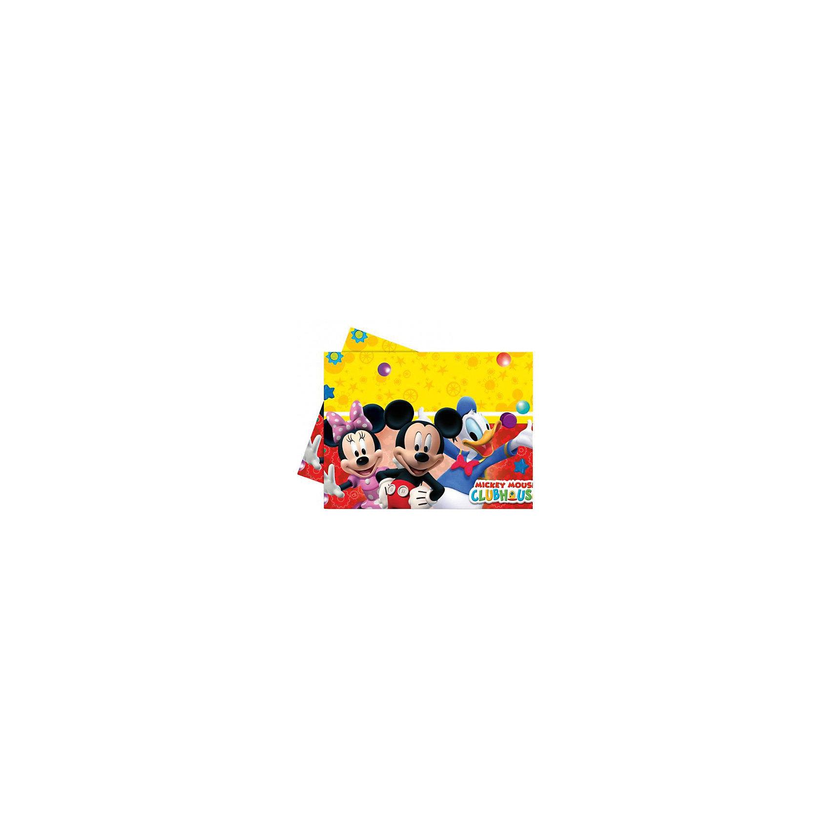 Скатерть  Веселый Микки 120x180 смВсё для праздника<br>Характеристики товара:<br><br>• возраст: от 3 лет;<br>• упаковка: пакет;<br>• размер упаковки: 37х21х0,5 см.;<br>• количество в упаковке: 1 шт.;<br>• размер скатерти: 120х180 см.;<br>• цвет: желтый с рисунком;<br>• материал: полипропилен ;<br>• бренд, страна: Procos, Россия;<br>• страна-производитель: Греция<br><br>Скатерть «Веселый Микки» - отлично подойдет для вчеринки в Диснеевском стиле, она гармонично впишется в праздничную атмосферу, а яркие изображения веселых Минни, Микки и Дональд Дака помогут поднять настроение гостей.<br><br>Товары для праздника, созданные компанией Procos, отличаются высоким качеством используемого материала.<br><br>Скатерть «Веселый Микки», 120х180 см., 1 шт., Procos (Прокос)  можно купить в нашем интернет-магазине.<br><br>Ширина мм: 2<br>Глубина мм: 210<br>Высота мм: 370<br>Вес г: 10<br>Возраст от месяцев: 36<br>Возраст до месяцев: 120<br>Пол: Унисекс<br>Возраст: Детский<br>SKU: 6914341