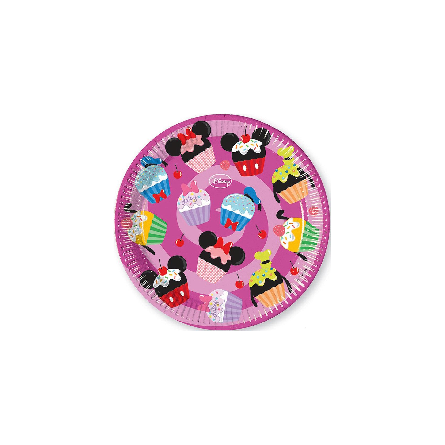 Тарелки Микки и его друзья - сладости 23 см, 8 шт.Всё для праздника<br>Характеристики товара:<br><br>• возраст: от 3 лет;<br>• упаковка: пакет;<br>• размер упаковки: 23х23х2 см.;<br>• количество тарелок: 8 шт.;<br>• размер тарелки: 23 см.;<br>• цвет: розовый;<br>• материал: картон;<br>• бренд, страна: Procos, Россия;<br>• страна-производитель: Греция<br><br>Тарелки  «Микки и его друзья – сладости» помогут не только оригинально и необычно украсить праздничный стол, и создать незабываемую атмосферу праздника, но и обезопасят вас и ваших детей от разбитой посуды. <br><br>Тарелки сделаны из качественных материалов, не токсичны, противоаллергенны и безопасны для здоровья.<br><br>Тарелки  «Микки и его друзья – сладости» , 23 см., 8 шт., Procos (Прокос)  можно купить в нашем интернет-магазине.<br><br>Ширина мм: 20<br>Глубина мм: 222<br>Высота мм: 222<br>Вес г: 10<br>Возраст от месяцев: 36<br>Возраст до месяцев: 120<br>Пол: Унисекс<br>Возраст: Детский<br>SKU: 6914343