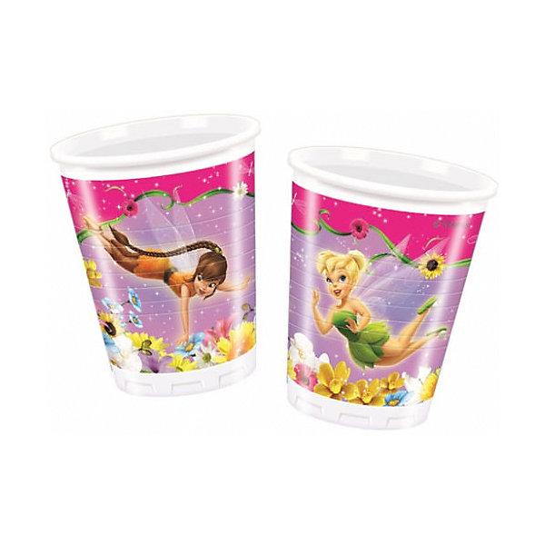 Стаканы пластиковые Долина Фей 200мл 10 штСтаканы<br>Характеристики товара:<br><br>• возраст: от 3 лет;<br>• упаковка: пакет;<br>• размер упаковки: 7х7х13 см.;<br>• количество стаканов: 10 шт.;<br>• емкость стакана: 200 мл.;<br>• цвет: белый с рисунком;<br>• состав: пластик 100%;<br>• бренд, страна: Procos, Россия;<br>• страна-производитель: Греция<br><br>Стаканы пластиковые «Долина Фей» - яркий детский набор из 10 стаканов сделает  торжество Вашего ребенка еще интересней, увлекательней и веселей. Детям очень важна атмосфера во время праздника, в том числе и оформление, дети почувствую себя как в сказке. А после торжества их можно выбросить, избавив себя от мытья посуды.<br><br>Стаканы от греческого бренда Procos, который на протяжении многих лет производит качественные товары для детского праздника, изготовлены из безопасного пластика, безвредного для детского здоровья.<br><br>Стаканы пластиковые «Долина Фей», 200 мл, 10 шт., Procos (Прокос)  можно купить в нашем интернет-магазине.<br>Ширина мм: 70; Глубина мм: 70; Высота мм: 135; Вес г: 5; Возраст от месяцев: 36; Возраст до месяцев: 120; Пол: Женский; Возраст: Детский; SKU: 6914345;
