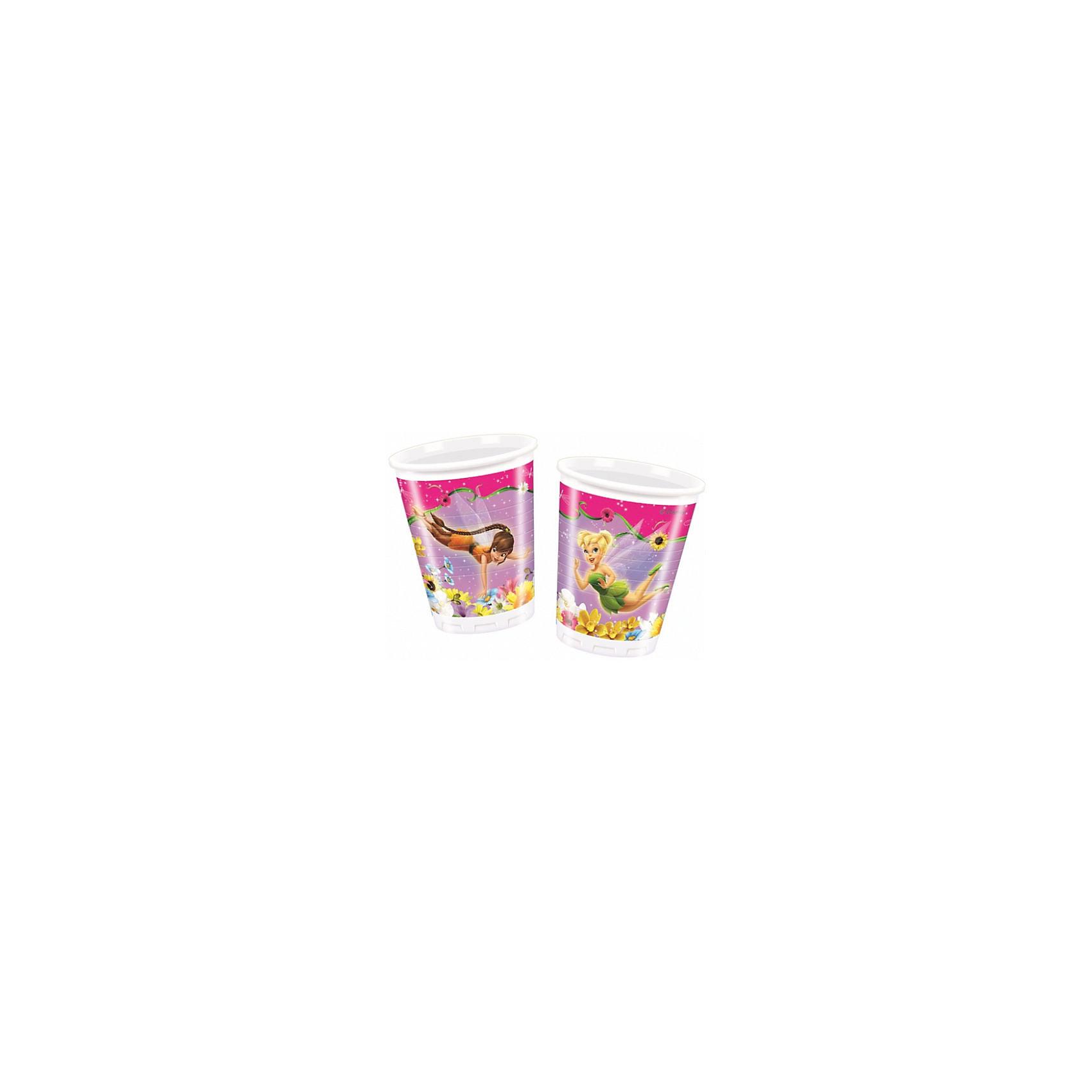 Стаканы пластиковые Долина Фей 200мл 10 штСтаканы<br>Характеристики товара:<br><br>• возраст: от 3 лет;<br>• упаковка: пакет;<br>• размер упаковки: 7х7х13 см.;<br>• количество стаканов: 10 шт.;<br>• емкость стакана: 200 мл.;<br>• цвет: белый с рисунком;<br>• состав: пластик 100%;<br>• бренд, страна: Procos, Россия;<br>• страна-производитель: Греция<br><br>Стаканы пластиковые «Долина Фей» - яркий детский набор из 10 стаканов сделает  торжество Вашего ребенка еще интересней, увлекательней и веселей. Детям очень важна атмосфера во время праздника, в том числе и оформление, дети почувствую себя как в сказке. А после торжества их можно выбросить, избавив себя от мытья посуды.<br><br>Стаканы от греческого бренда Procos, который на протяжении многих лет производит качественные товары для детского праздника, изготовлены из безопасного пластика, безвредного для детского здоровья.<br><br>Стаканы пластиковые «Долина Фей», 200 мл, 10 шт., Procos (Прокос)  можно купить в нашем интернет-магазине.<br><br>Ширина мм: 70<br>Глубина мм: 70<br>Высота мм: 135<br>Вес г: 5<br>Возраст от месяцев: 36<br>Возраст до месяцев: 120<br>Пол: Женский<br>Возраст: Детский<br>SKU: 6914345