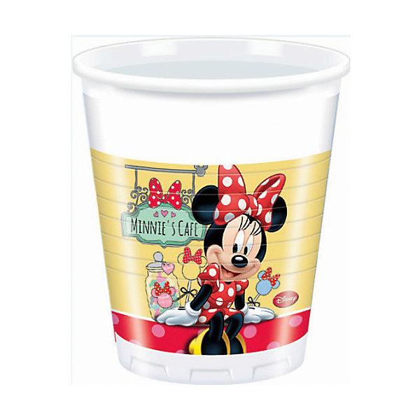Стаканы пластиковые  Кафе Минни 200мл 8штСтаканы<br>Характеристики товара:<br><br>• возраст: от 3 лет;<br>• упаковка: пакет;<br>• размер упаковки: 7х7х13 см.;<br>• количество стаканов: 8 шт.;<br>• емкость стакана: 200 мл.;<br>• цвет: белый с рисунком;<br>• состав: пластик 100%;<br>• бренд, страна: Procos, Россия;<br>• страна-производитель: Греция.<br><br>Стаканы пластиковые «Кафе Минни» - яркий детский набор из 8 стаканов сделает  торжество Вашего ребенка еще интересней, увлекательней и веселей. Детям очень важна атмосфера во время праздника, в том числе и оформление, дети почувствую себя как в сказке. А после торжества их можно выбросить, избавив себя от мытья посуды.<br><br>Стаканы от греческого бренда Procos, который на протяжении многих лет производит качественные товары для детского праздника, изготовлены из безопасного пластика, безвредного для детского здоровья.<br><br>Стаканы пластиковые «Кафе Минни», 200 мл., 8 шт., Procos (Прокос)  можно купить в нашем интернет-магазине.<br><br>Ширина мм: 70<br>Глубина мм: 70<br>Высота мм: 125<br>Вес г: 5<br>Возраст от месяцев: 36<br>Возраст до месяцев: 120<br>Пол: Женский<br>Возраст: Детский<br>SKU: 6914348