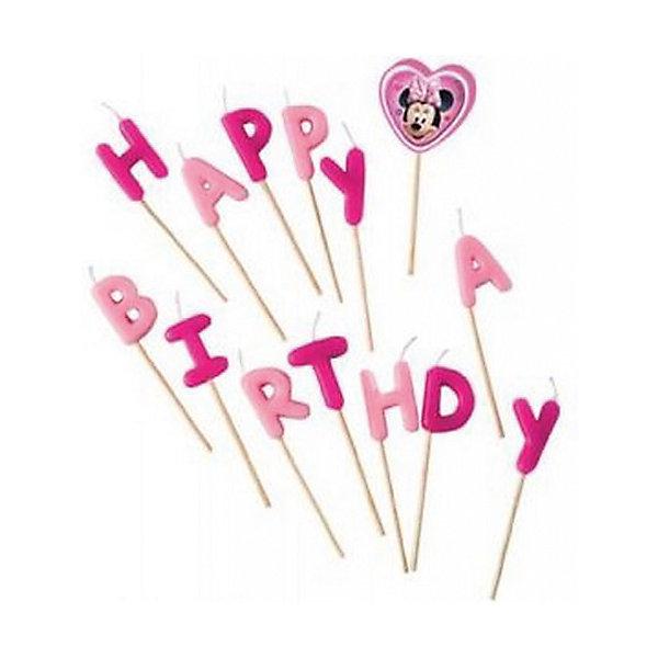 Свечи-буквы Кафе Минни «Happy Birthday»Детские свечи для торта<br>Характеристики товара:<br><br>• возраст: от 3 лет;<br>• упаковка: блистер;<br>• размер упаковки: 17,5х12х2,5 см.;<br>• количество свечей: 14 шт.;<br>• высота свечки: 7 см.;<br>• цвет: розовый;<br>• состав: парафин, дерево;<br>• бренд, страна: Procos, Россия;<br>• страна-производитель: Греция.<br><br>Свечи-буквы «Кафе Минни «Happy Birthday» станут лучшим вариантом украшения детского торта. Посаженные на длинные деревянные шпажки, они прочно удержатся на торте. Из букв складывается популярное поздравление Happy Birthday.  С такими свечками праздник удастся на славу, а маленький именинник и его гости будут в восторге!<br><br>Свечки изготовлены из высококачественных нетоксичных материалов и безопасны для детского здоровья.<br><br>Свечи-буквы «Кафе Минни «Happy Birthday», 7 см., 14 шт., Procos (Прокос)  можно купить в нашем интернет-магазине.<br><br>Ширина мм: 5<br>Глубина мм: 90<br>Высота мм: 175<br>Вес г: 50<br>Возраст от месяцев: 36<br>Возраст до месяцев: 120<br>Пол: Женский<br>Возраст: Детский<br>SKU: 6914349