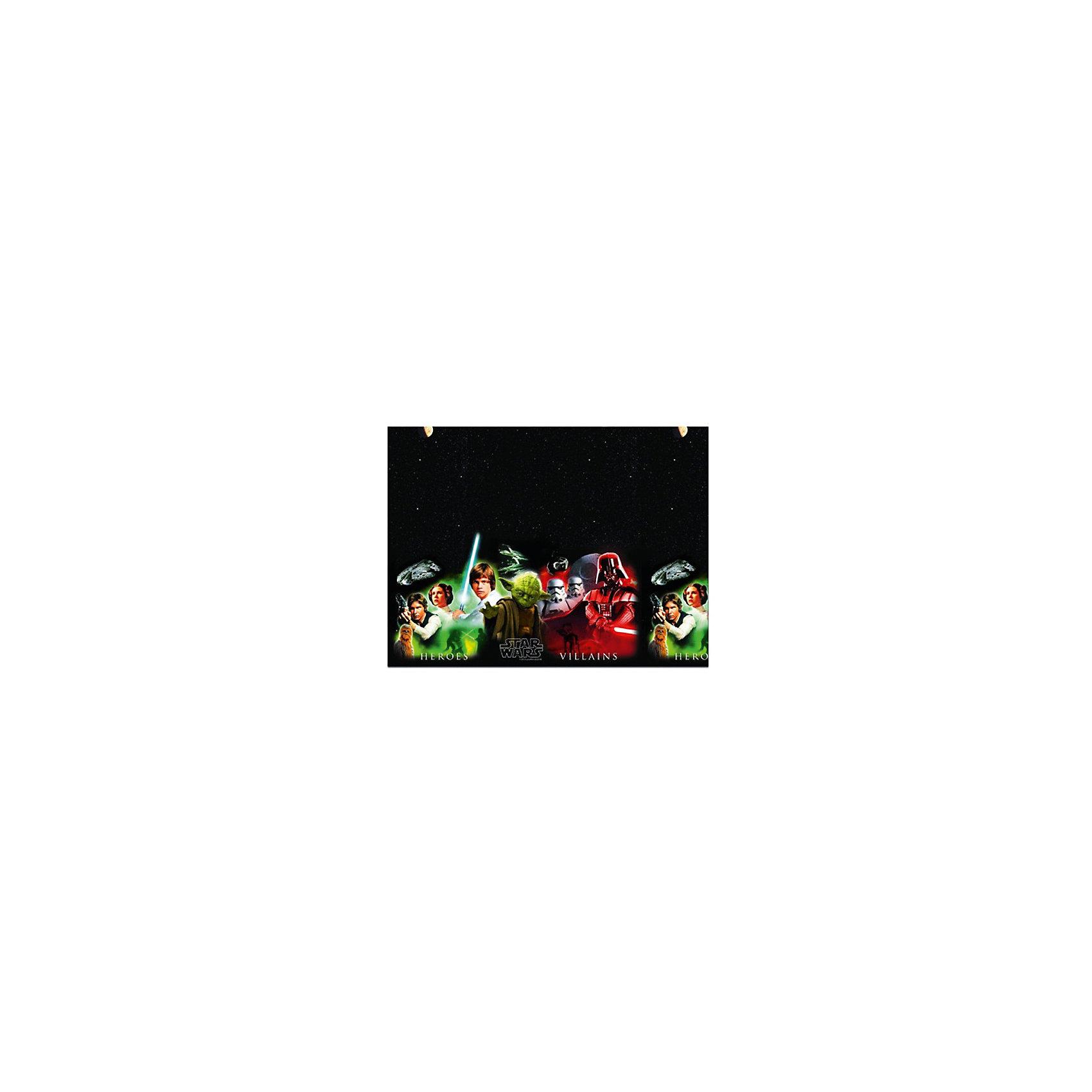 Скатерть «Звездные Войны» 120x180 см.Всё для праздника<br>Скатерть  Звездные Войны – незаменимая вещь для любого праздника, в котором принимают участие поклонники Звездных войн. На скатерти на фоне темного звездного неба изображены герои фильма, что не сможет остаться без внимания гостей. Расстелив скатерть на столе, каждый гость сможет сесть рядом с изображением своего любимого персонажа. Также ее можно использовать для пикников на природе, где она, благодаря яркому солнцу, будет смотреться еще красочней и ярче. Изготовлена скатерть из качественного полиэтилена, совершенно безопасного для детей. @#<br>Размер скатерти 120x180 сантиметров. @#<br>Рекомендуемый возраст: от 3 лет.<br><br>Ширина мм: 20<br>Глубина мм: 165<br>Высота мм: 165<br>Вес г: 10<br>Возраст от месяцев: 36<br>Возраст до месяцев: 120<br>Пол: Унисекс<br>Возраст: Детский<br>SKU: 6914356