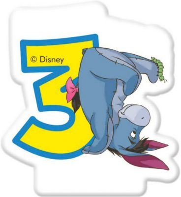Procos Свечка Для Торта Цифра 3 , Disney Винни Пух