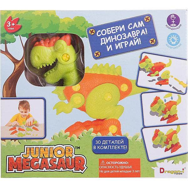 Игрушка Собери динозавра, Junior MegasaurМир животных<br>Характеристики товара:<br><br>• возраст: от 3 лет;<br>• материал: пластик;<br>• в наборе 29 деталей: гребень; рог; лапы; голова; туловище; ноги;  хвост; ступни; отвёртка; шурупы;<br>• последовательность сборки проиллюстрирована понятными картинками на упаковке;<br>• размер упаковки: 25х6х22 см;<br>• вес упаковки: 267 гр.;<br>• страна обладатель бренда: США;                  <br>                                                        <br>Какой ребёнок не хотел бы иметь собственного динозавра? С помощью данного набора малыш сможет самостоятельно собрать себе своего очаровательного динозавра.<br><br>Сборка модели положительно сказывается на мелкой моторике, воображении и творческом потенциале малыша. А динозаврик, который получится в итоге, станет отличной игрушкой с подвижными лапками и головой.<br><br>Игрушку Динозавр Megasaur «Собери динозавра»  можно приобрести в нашем интернет-магазине.<br><br>Ширина мм: 60<br>Глубина мм: 250<br>Высота мм: 220<br>Вес г: 267<br>Возраст от месяцев: 36<br>Возраст до месяцев: 2147483647<br>Пол: Мужской<br>Возраст: Детский<br>SKU: 6916223