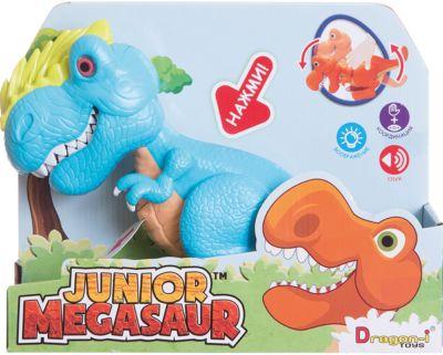 Dragon-i Динозавр Аллозавр, со светом и звуком, голубой, Junior Megasaur