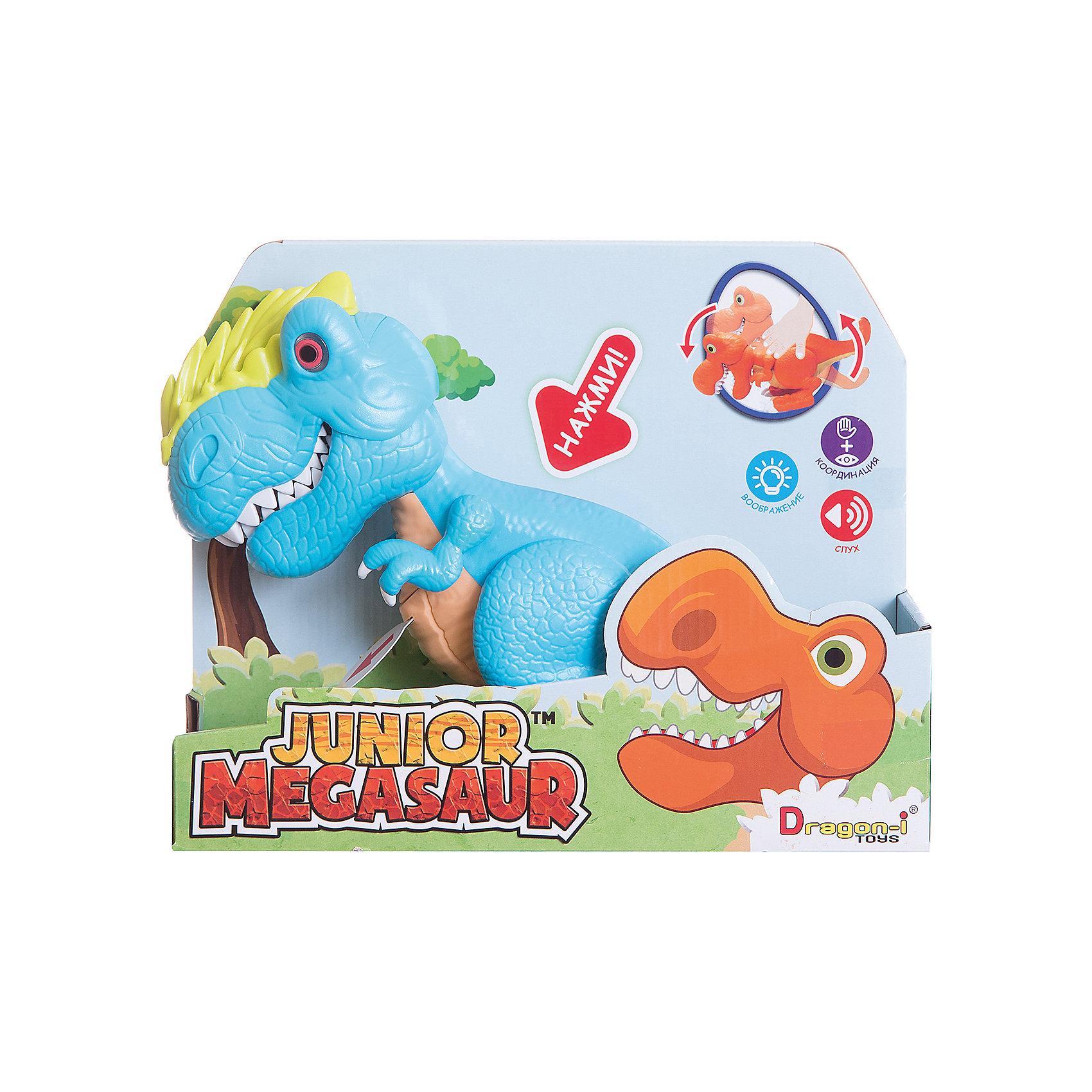 Динозавр Аллозавр, со светом и звуком, голубой, Junior MegasaurДраконы и динозавры<br>Характеристики товара:<br><br>• возраст: от 3 лет;<br>• материал: пластик;<br>• цвет: голубой;  <br>• тип батареек : 2 батарейки АА ;<br>• наличие батареек : демонстрационные батарейки;<br>• размер упаковки: 31х11х26 см;<br>• вес упаковки: 603 гр.; <br>•страна обладатель бренда: США.   <br><br>Динозавр Аллозавр, со светом и звуком, голубой, Junior Megasaur оснащен световыми и звуковыми эффектами: при наклоне корпуса динозавра у него будут светиться глаза, он зарычит и начнёт хлопать пастью. При этом динозавр может захватывать мелкие предметы со стала или с пола. Динозаврик рычит при нажатии на спину, при этом у него светятся глаза.<br><br>Игрушку динозавр «Аллозавр» Junior Megasaur , со светом и звуком  можно приобрести в нашем интернет-магазине.<br><br>Ширина мм: 310<br>Глубина мм: 110<br>Высота мм: 240<br>Вес г: 603<br>Возраст от месяцев: 36<br>Возраст до месяцев: 2147483647<br>Пол: Мужской<br>Возраст: Детский<br>SKU: 6916228