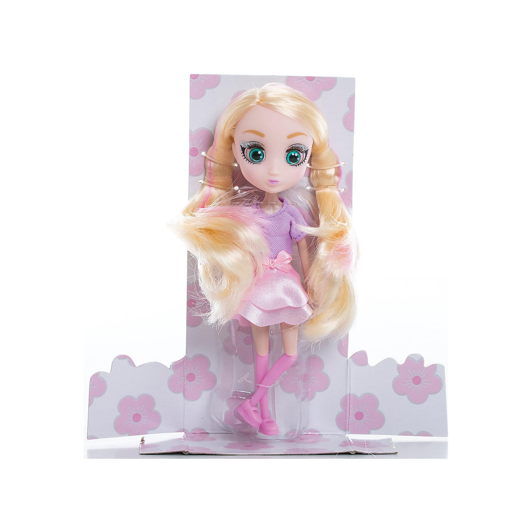 Кукла Шидзуки, 15 см, Шибадзуку ГерлзМини-куклы<br>Характеристики товара:<br><br>• возраст: от 3 лет;<br>• материал: пластик,текстиль;<br>•высота куклы: 15 см;<br>•в комплекте : кукла,аксессуары;<br>• размер упаковки: 5х8х17 см;<br>• вес упаковки: 87 гр.;<br>• страна обладатель бренда: Австралия;<br>• бренд: Hunter Products. <br><br>Представляем Вашему вниманию куклу Шидзуки — эта стильная блондинка очень талантлива и креативна, она обожает сочинять музыку и мечтает стать крутым дизайнером. На этот раз Шидзуки одета в сиреневую кофточку с коротким рукавом, розовую юбку с бантиком на поясе, розовые гетры и ботиночки.<br><br>А еще у куклы яркий макияж и длинные светлые волосы с розовыми прядями. Девочка сможет сделать очень много необычных причесок для любимой игрушки. Также у куклы подвижная голова, руки и ноги. Руки без шарниров, а вот ноги сгибаются в бедре, прокручиваются и сгибаются в колене. <br><br>Куклу Шидзуки ,15 см  можно приобрести в нашем интернет-магазине.<br><br>Ширина мм: 80<br>Глубина мм: 50<br>Высота мм: 170<br>Вес г: 87<br>Возраст от месяцев: 36<br>Возраст до месяцев: 2147483647<br>Пол: Женский<br>Возраст: Детский<br>SKU: 6916231